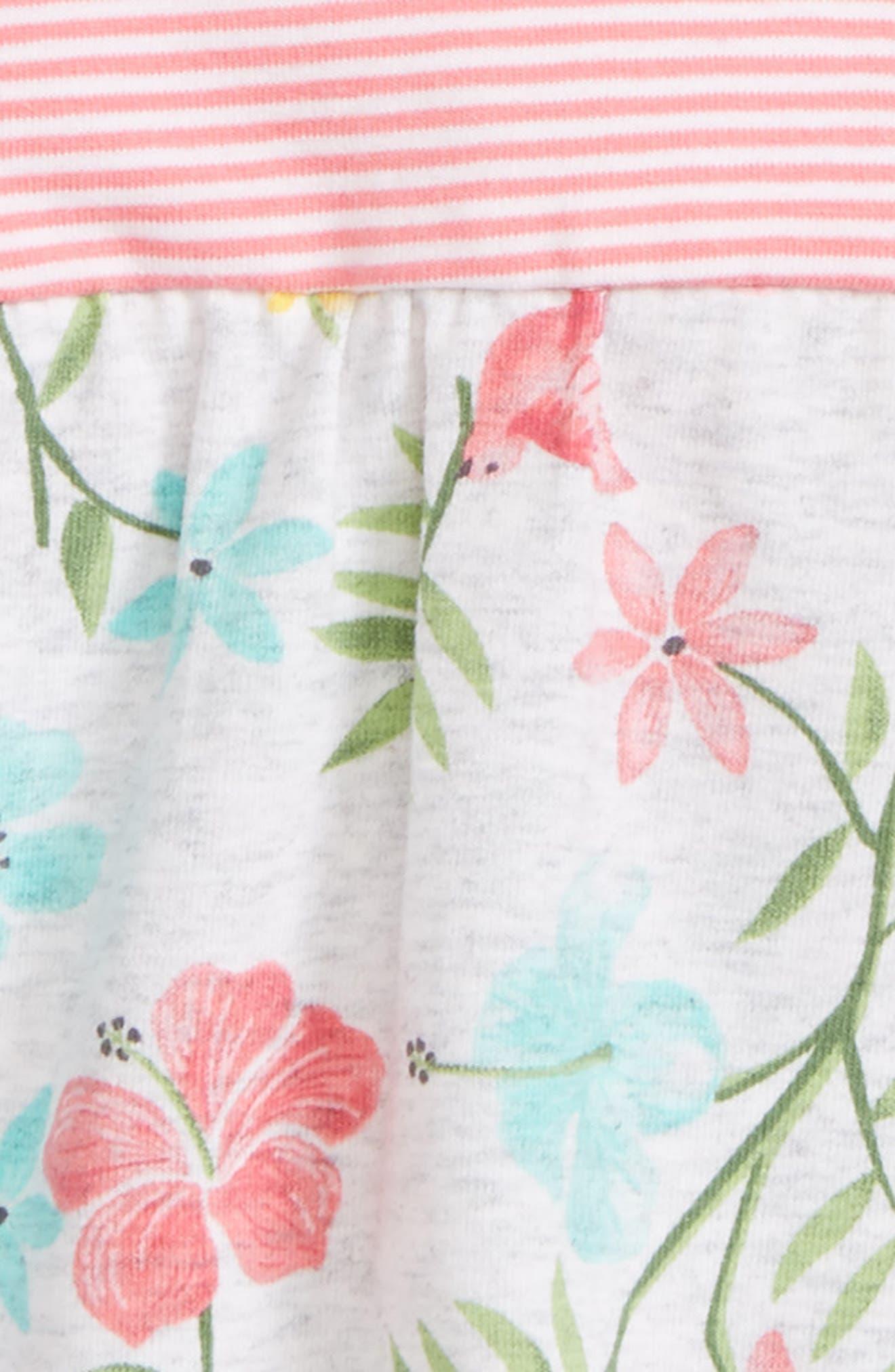 Tropical Floral Popover Bodysuit,                             Alternate thumbnail 2, color,                             Floral