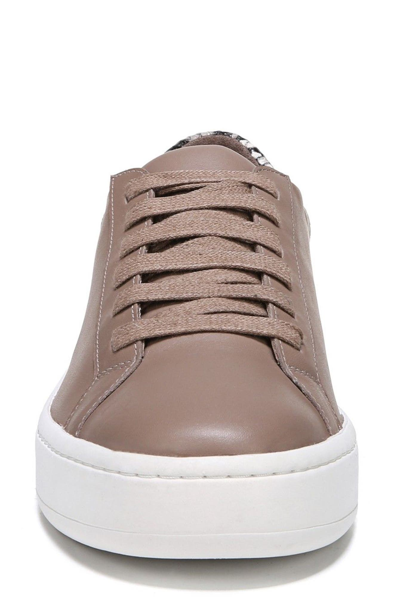 Rylen Platform Sneaker,                             Alternate thumbnail 4, color,                             Porcini/ Black/ White Leather