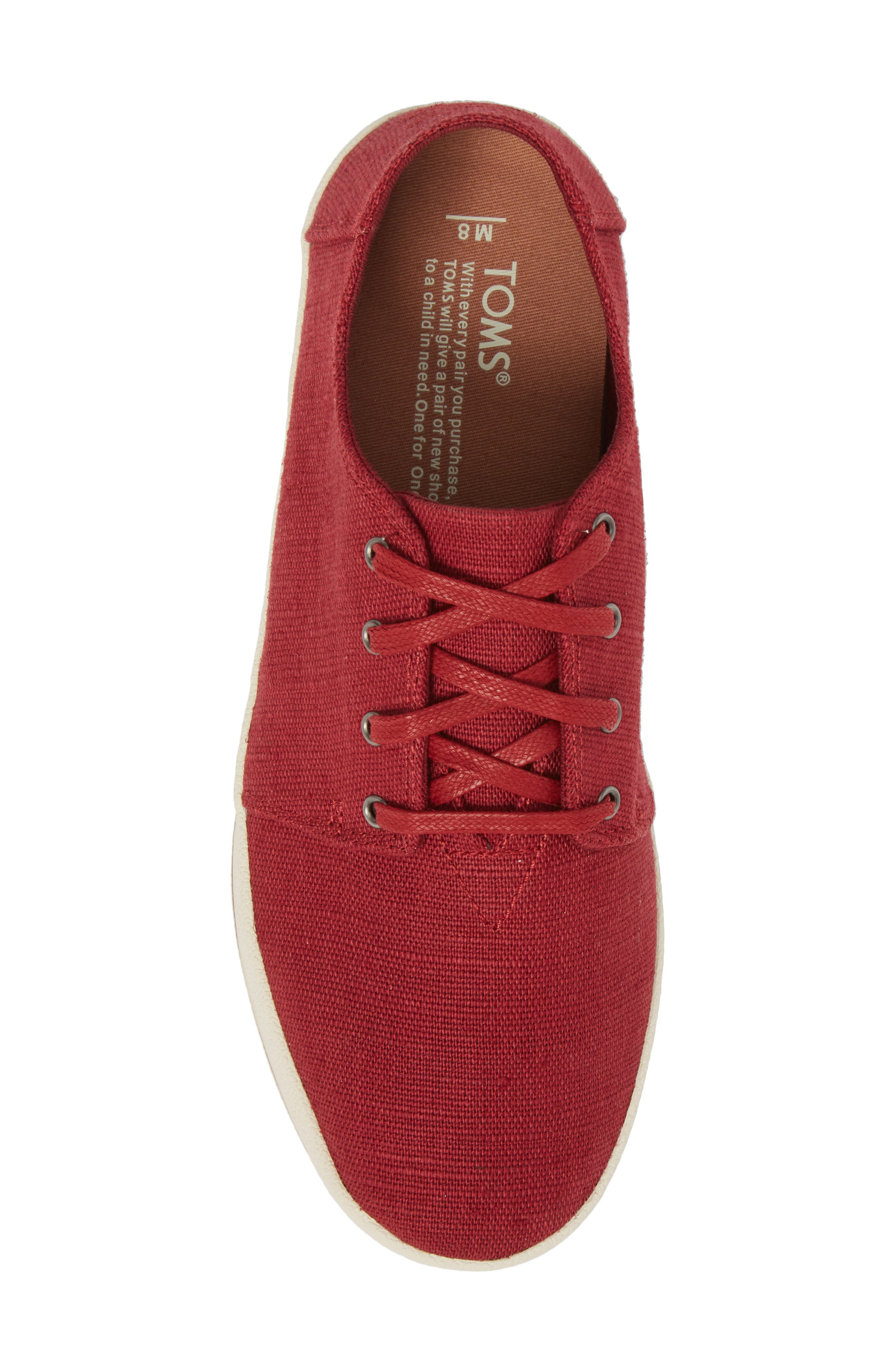 Payton Sneaker,                             Alternate thumbnail 5, color,                             Henna Red Heritage Canvas