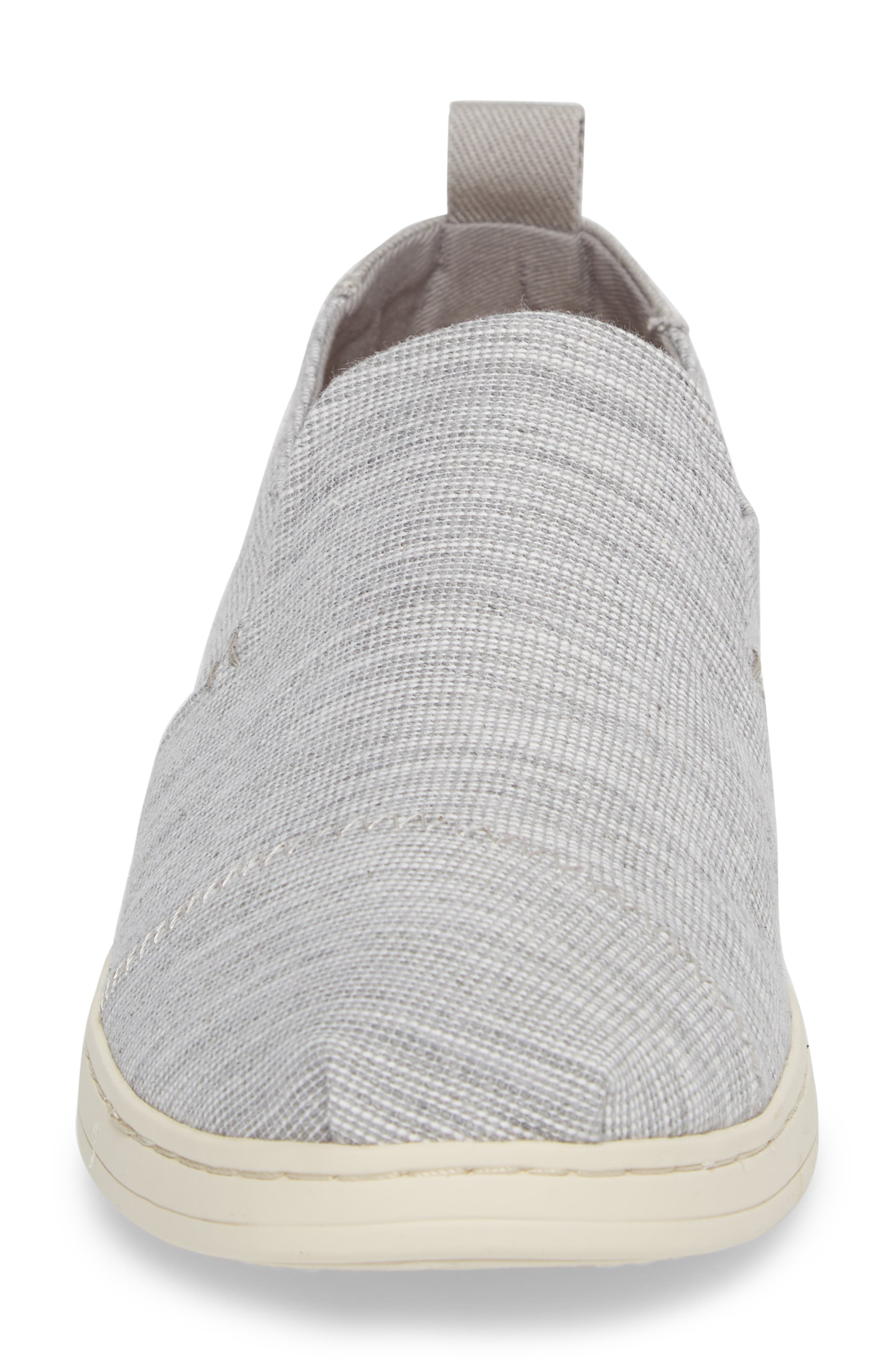Deconstructed Alpargata Slip-On,                             Alternate thumbnail 4, color,                             Drizzle Striped Chambray