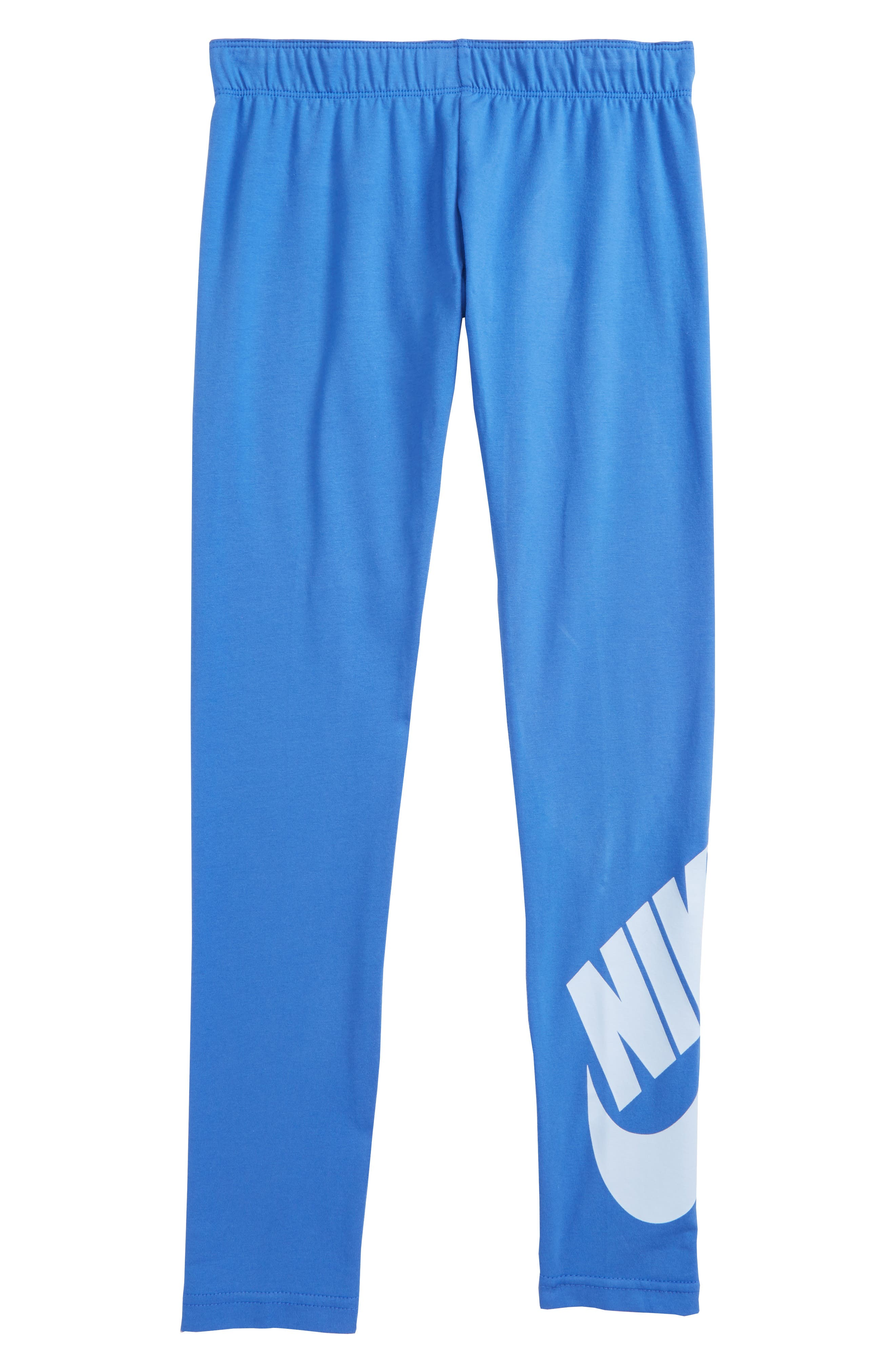 Leg A See Logo Leggings,                         Main,                         color, Light Racer Blue/ Royal Tint