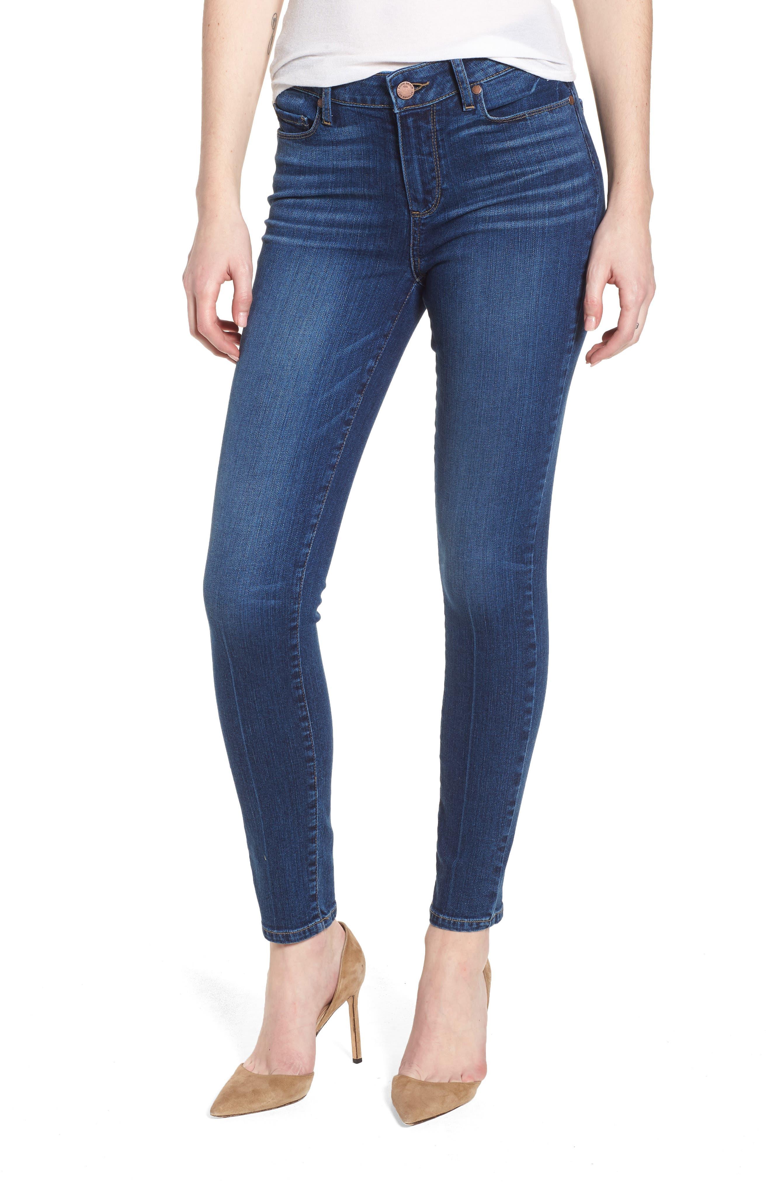 Verdugo Ankle Skinny Jeans,                         Main,                         color, Salida