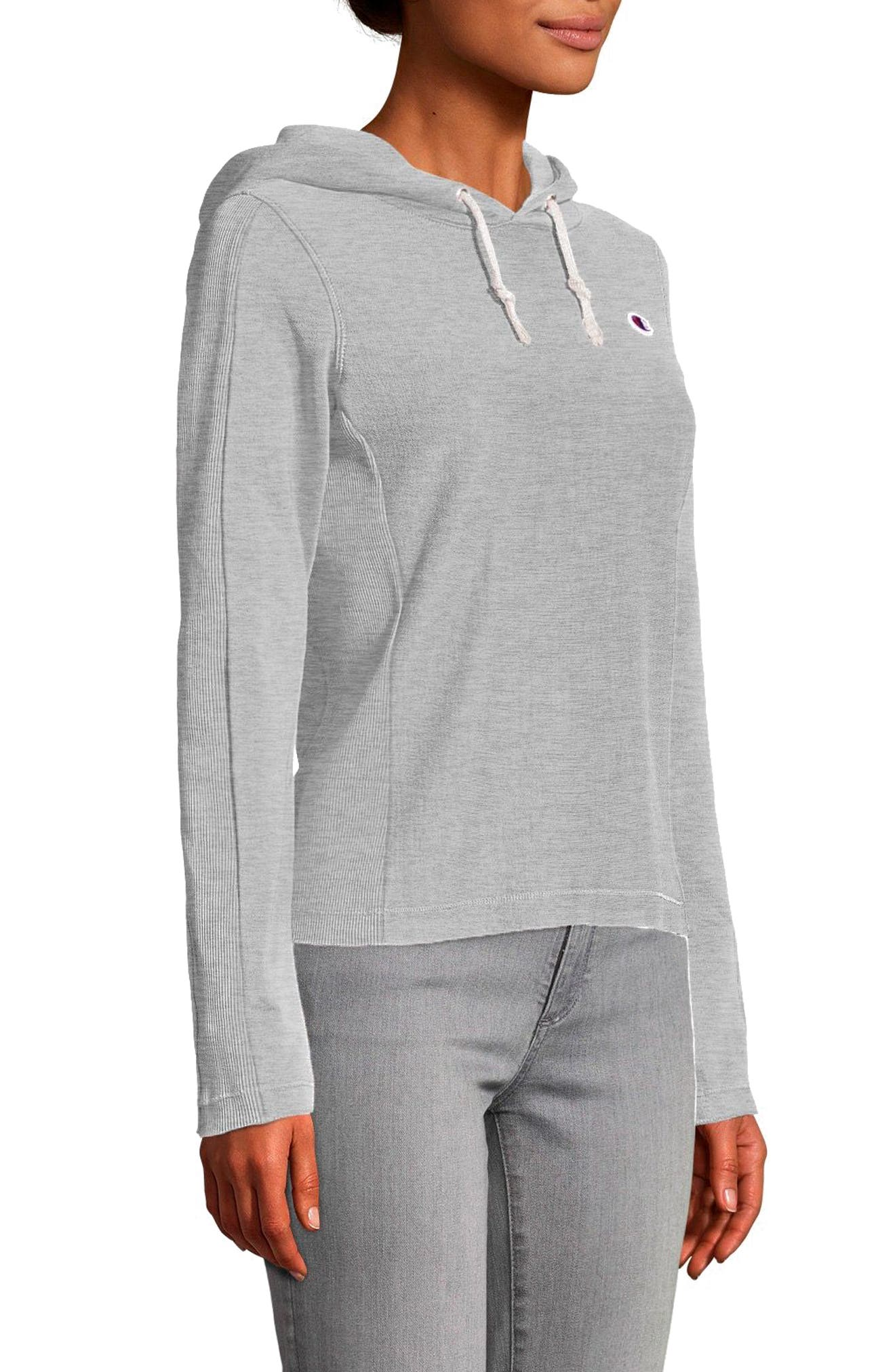 Recycled Terry Hoodie,                         Main,                         color, Oxford Gray