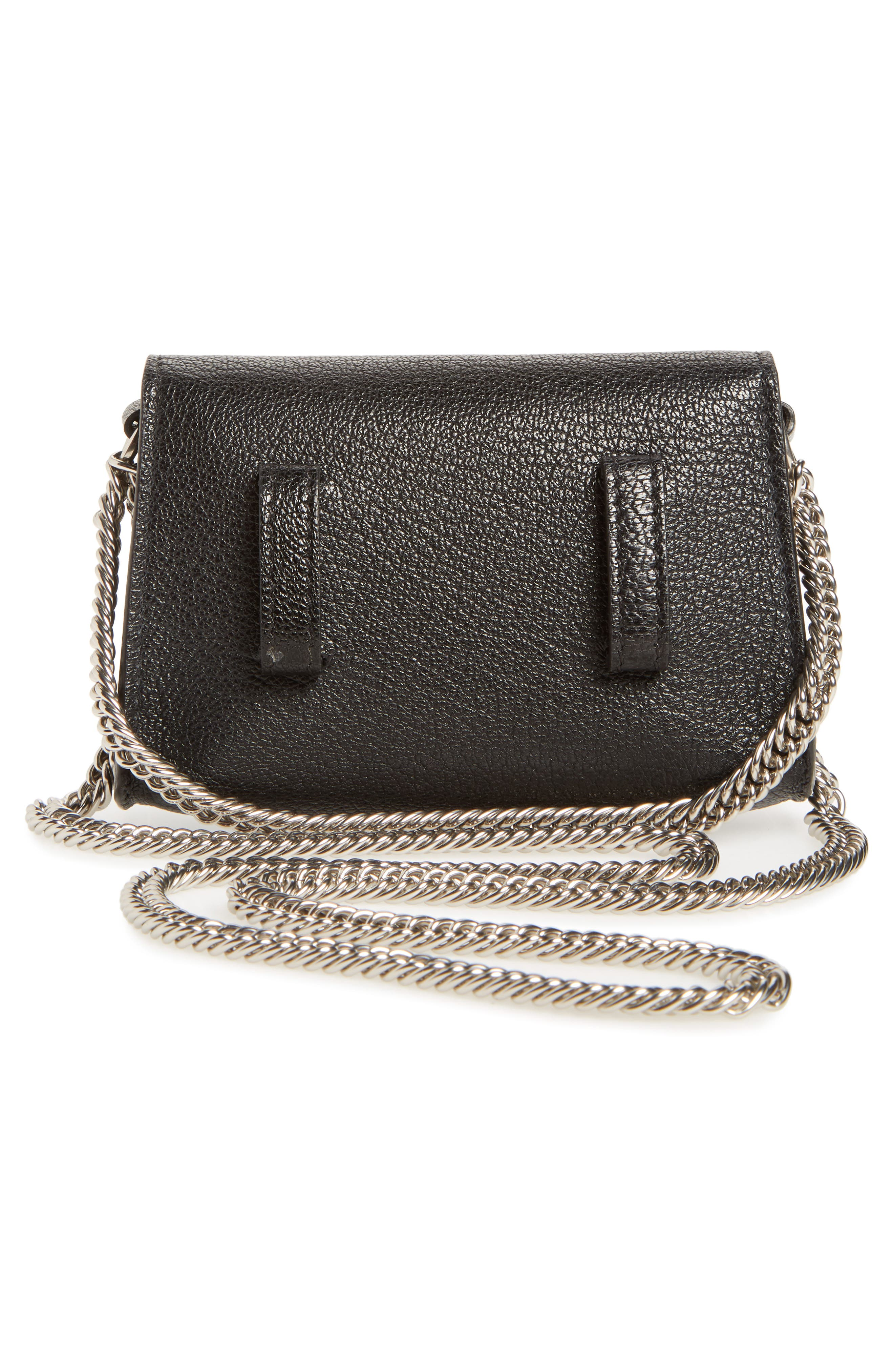 Nano GV3 Leather Crossbody Bag,                             Alternate thumbnail 3, color,                             Black