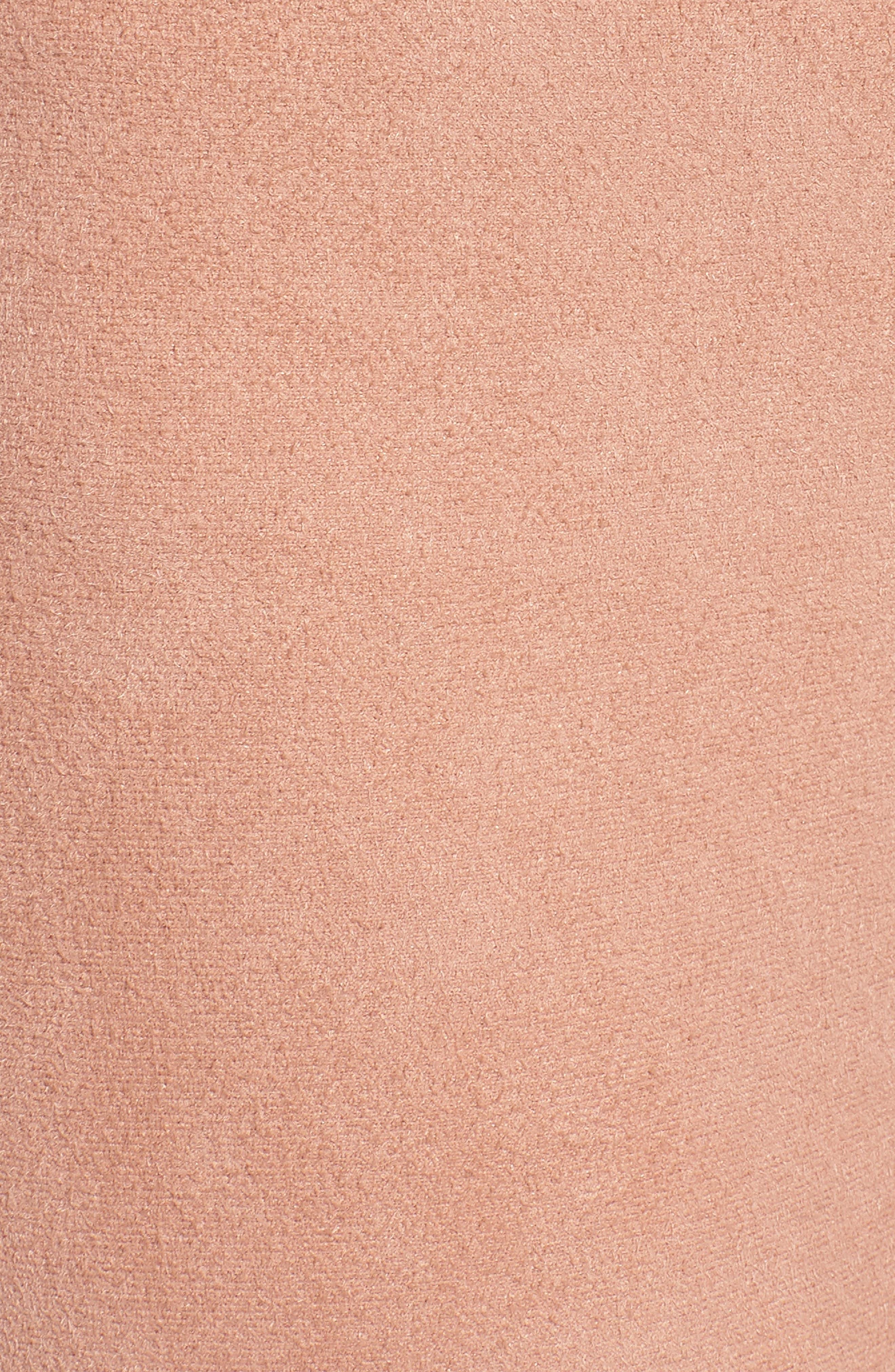 High Waist Faux Suede Leggings,                             Alternate thumbnail 5, color,                             Dusty Peach