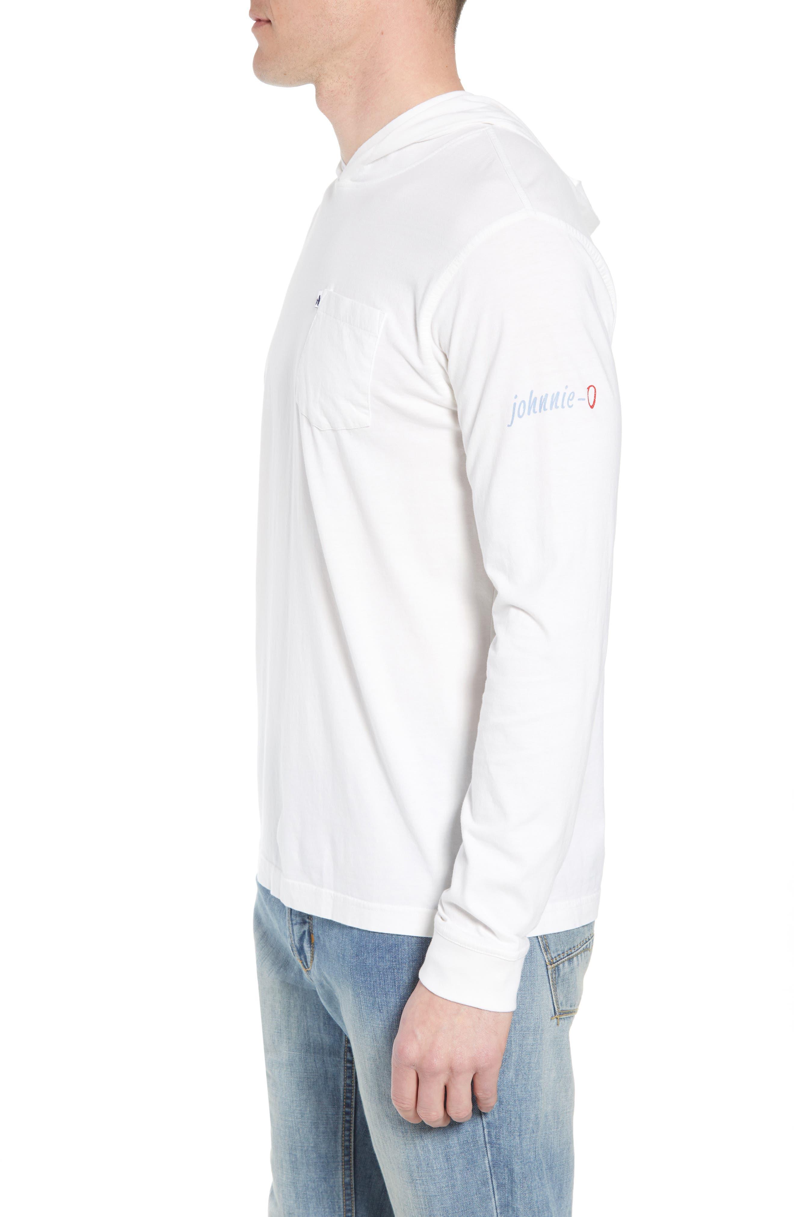 Eller Hooded T-Shirt,                             Alternate thumbnail 3, color,                             White