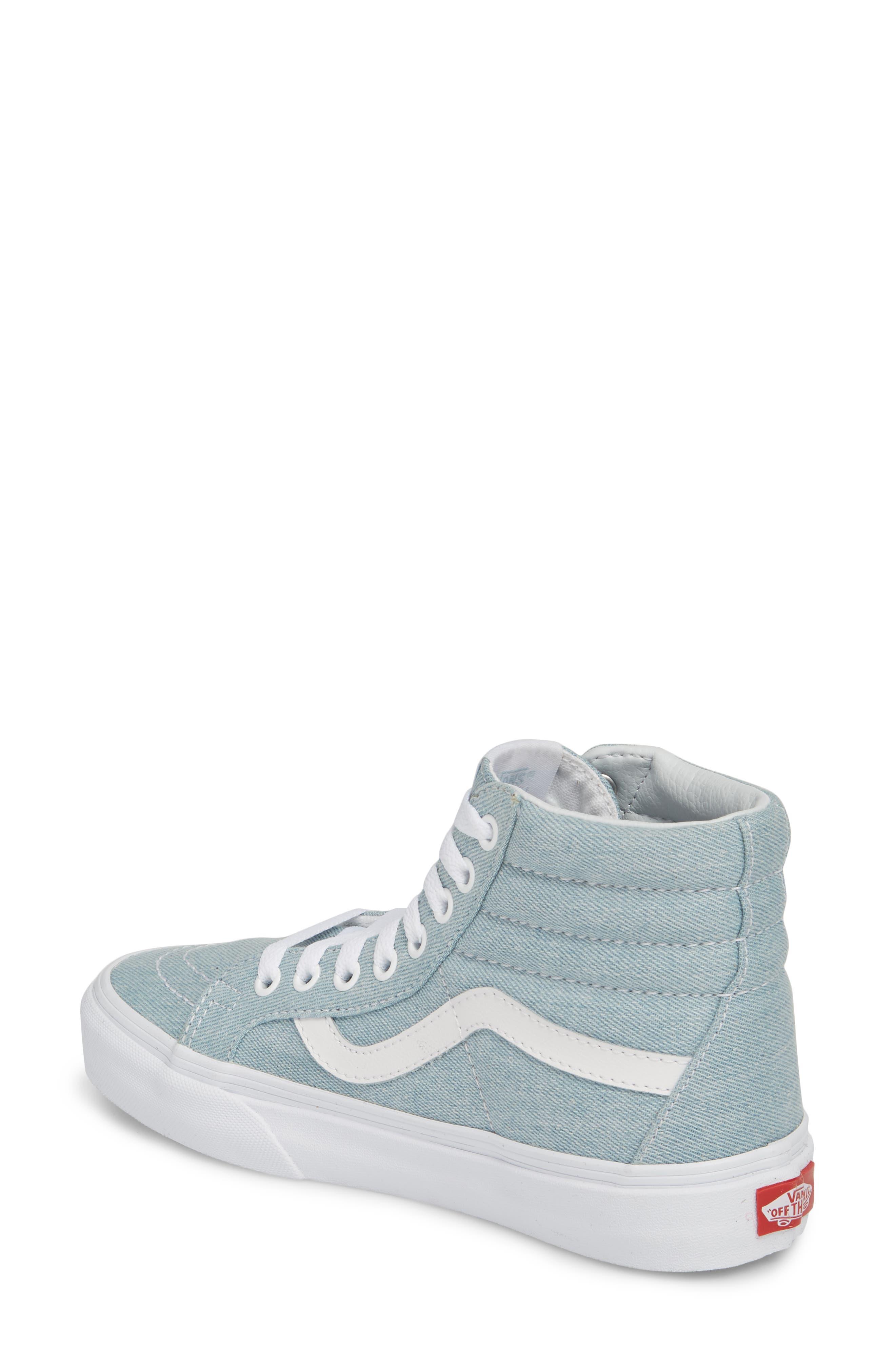 'Sk8-Hi Reissue' Sneaker,                             Alternate thumbnail 2, color,                             Denim Baby Blue