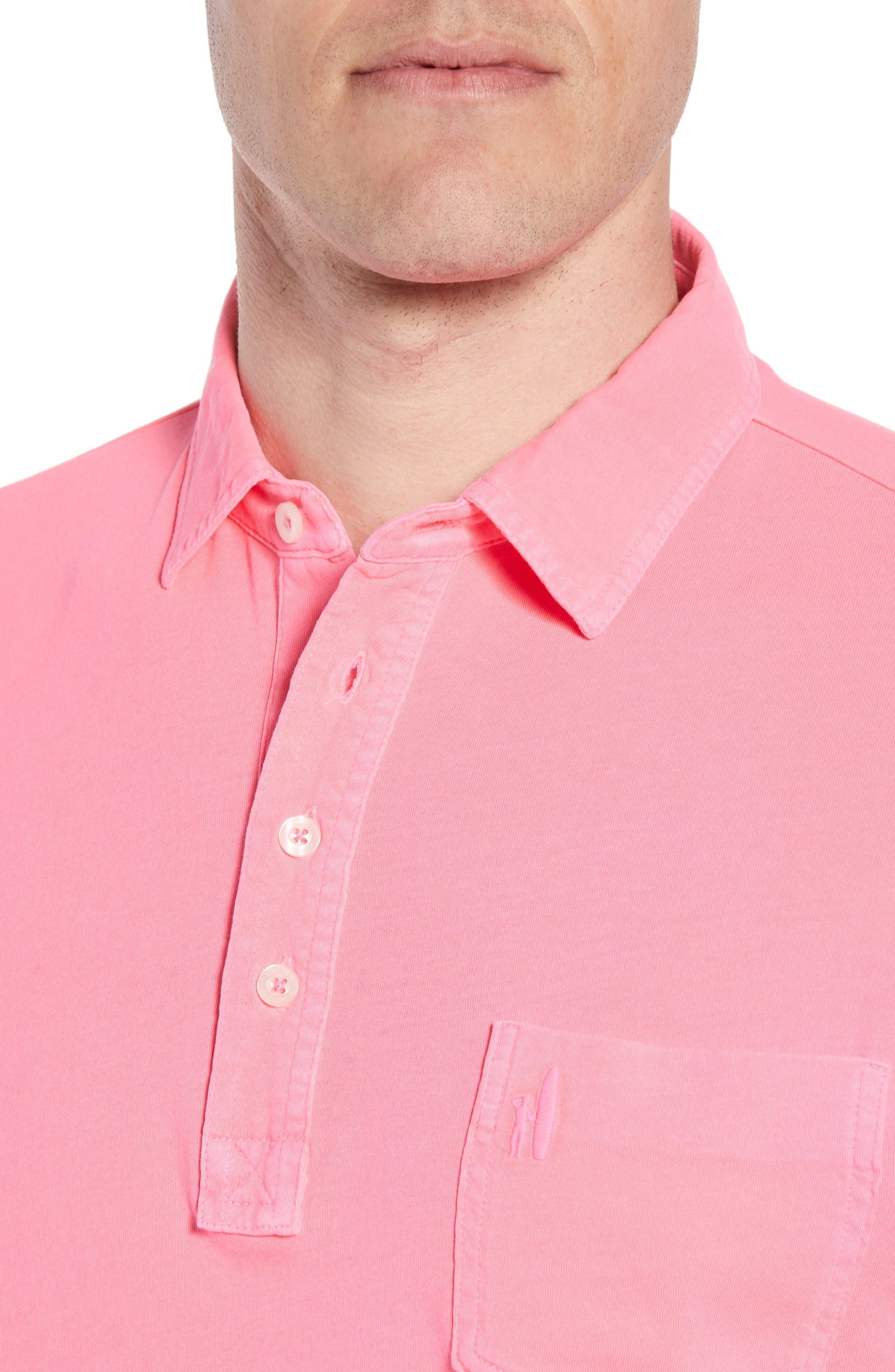 Original Regular Fit Garment Dyed Polo,                             Alternate thumbnail 4, color,                             Neon Pink