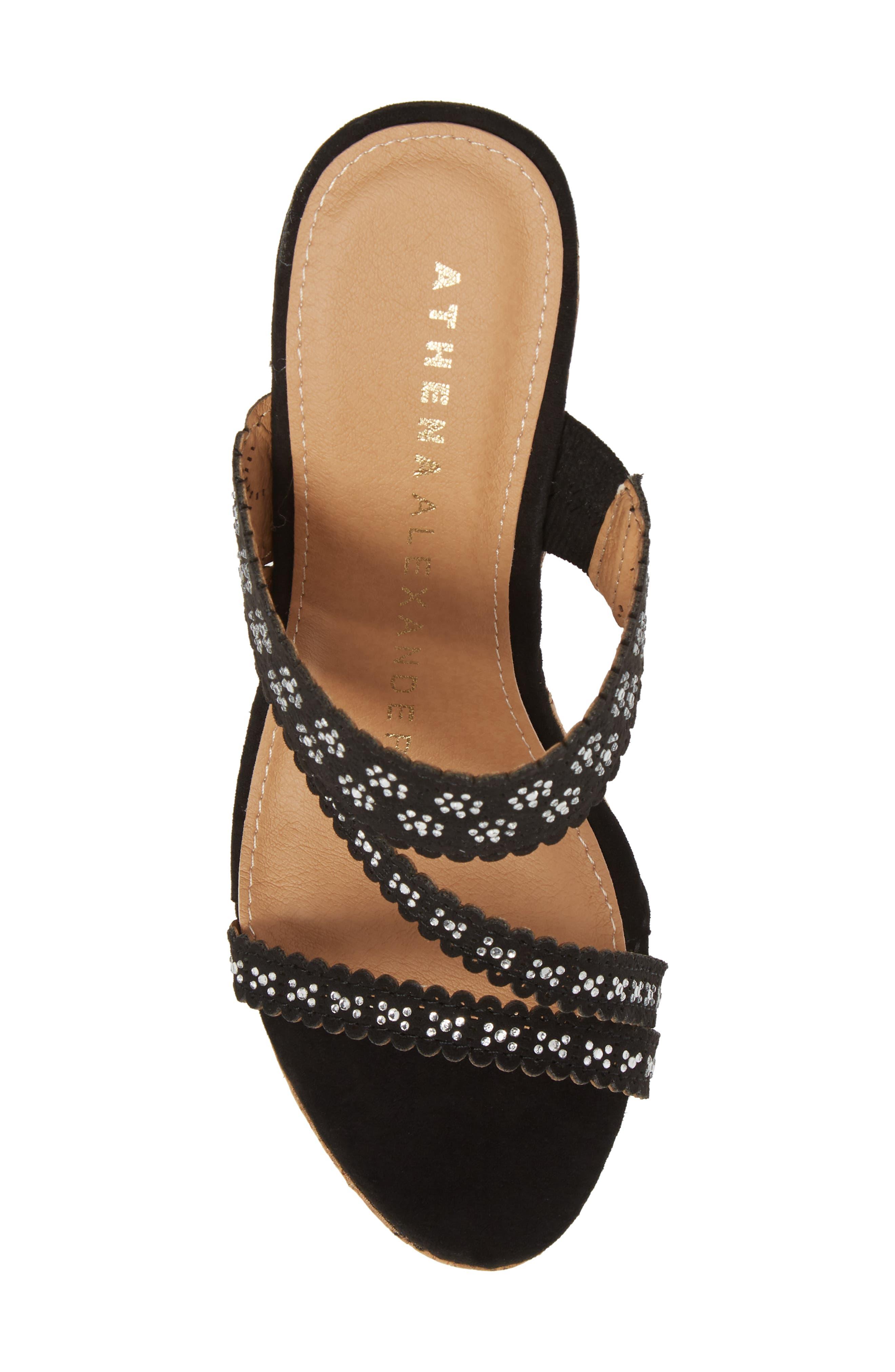 Alternate Image 5  - Athena Alexander Aerin Embellished Wedge Sandal (Women)