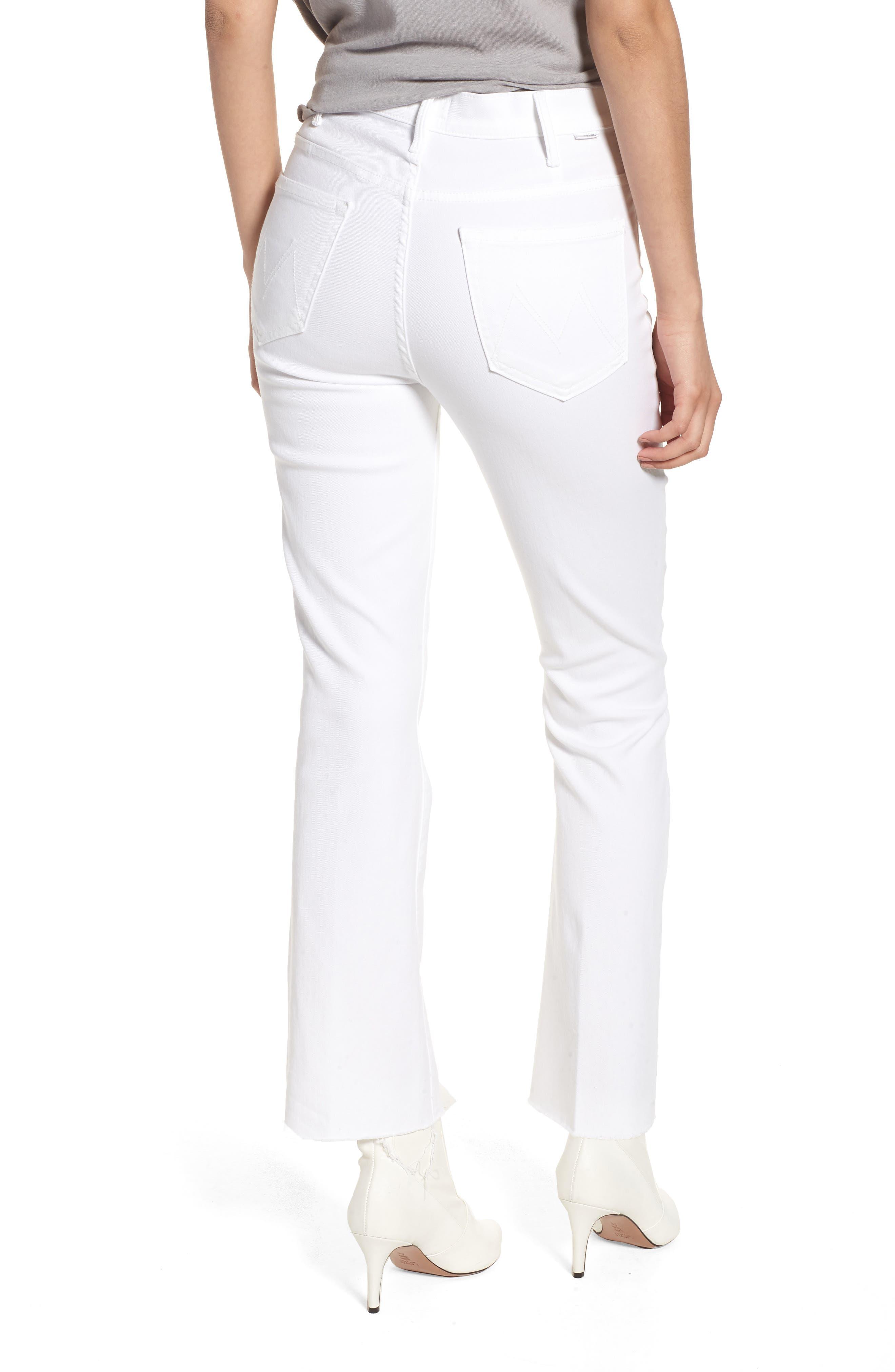 Alternate Image 2  - MOTHER The Hustler Fray Ankle Bootcut Jeans (Glass Slipper)
