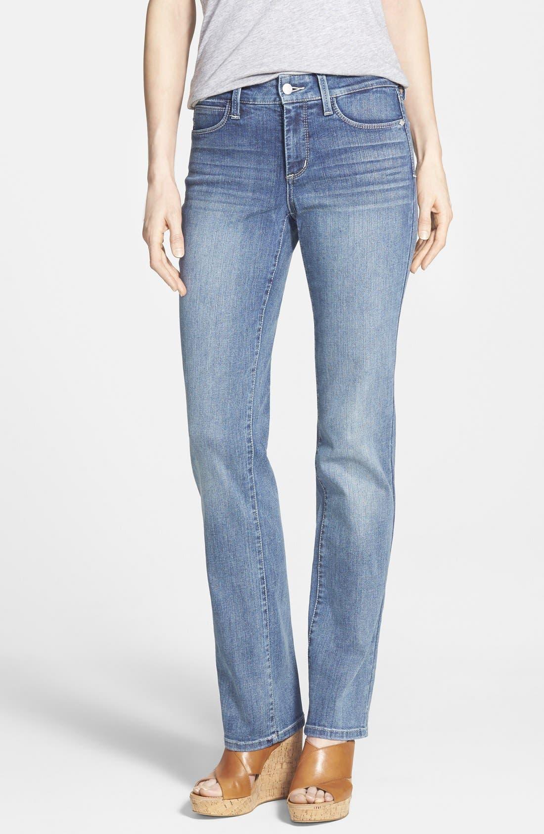 NYDJ 'Marilyn' Stretch Straight Leg Jeans (Heyburn) (Regular & Petite)