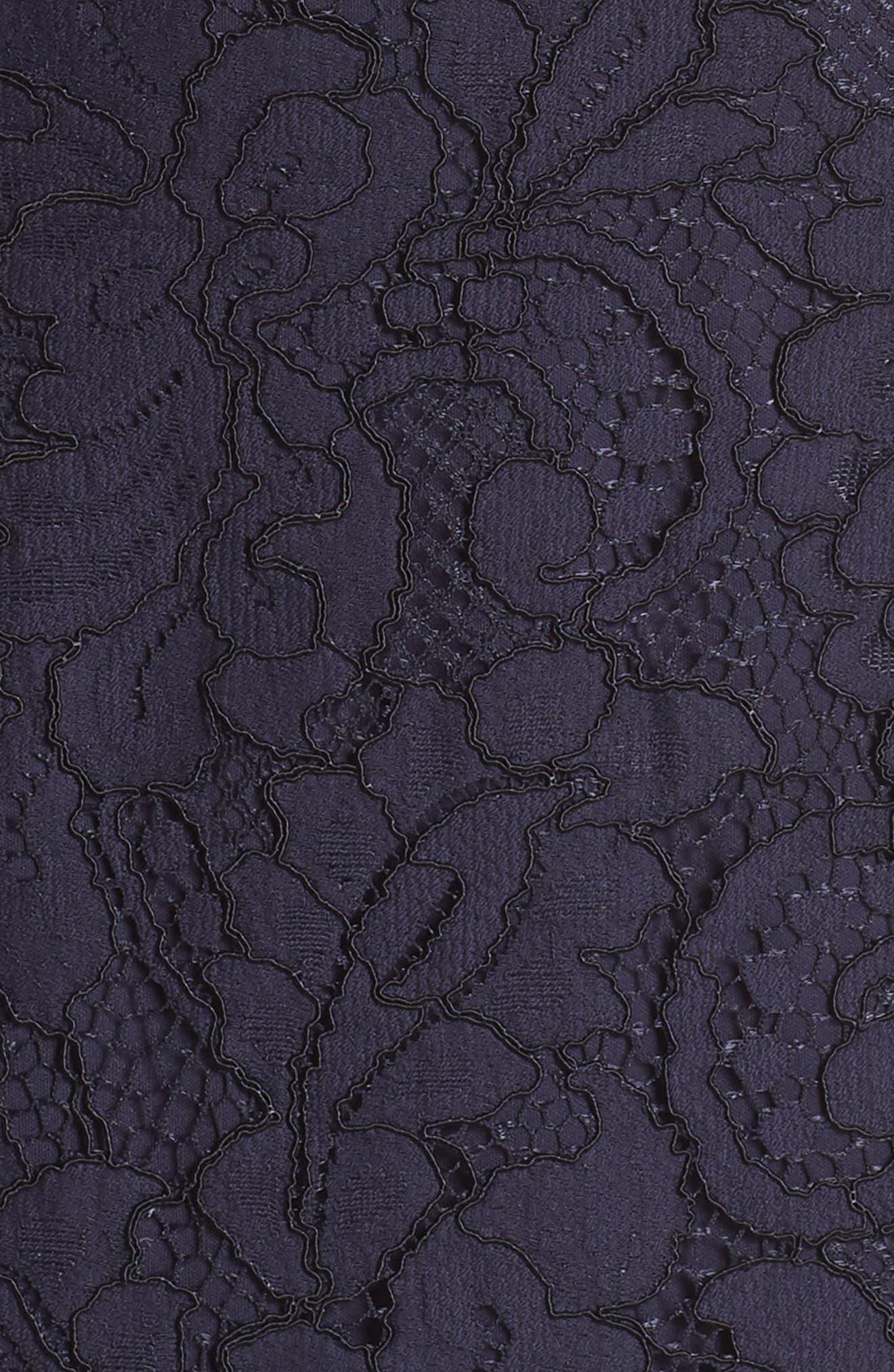 Lace Sheath Dress,                             Alternate thumbnail 6, color,                             Navy