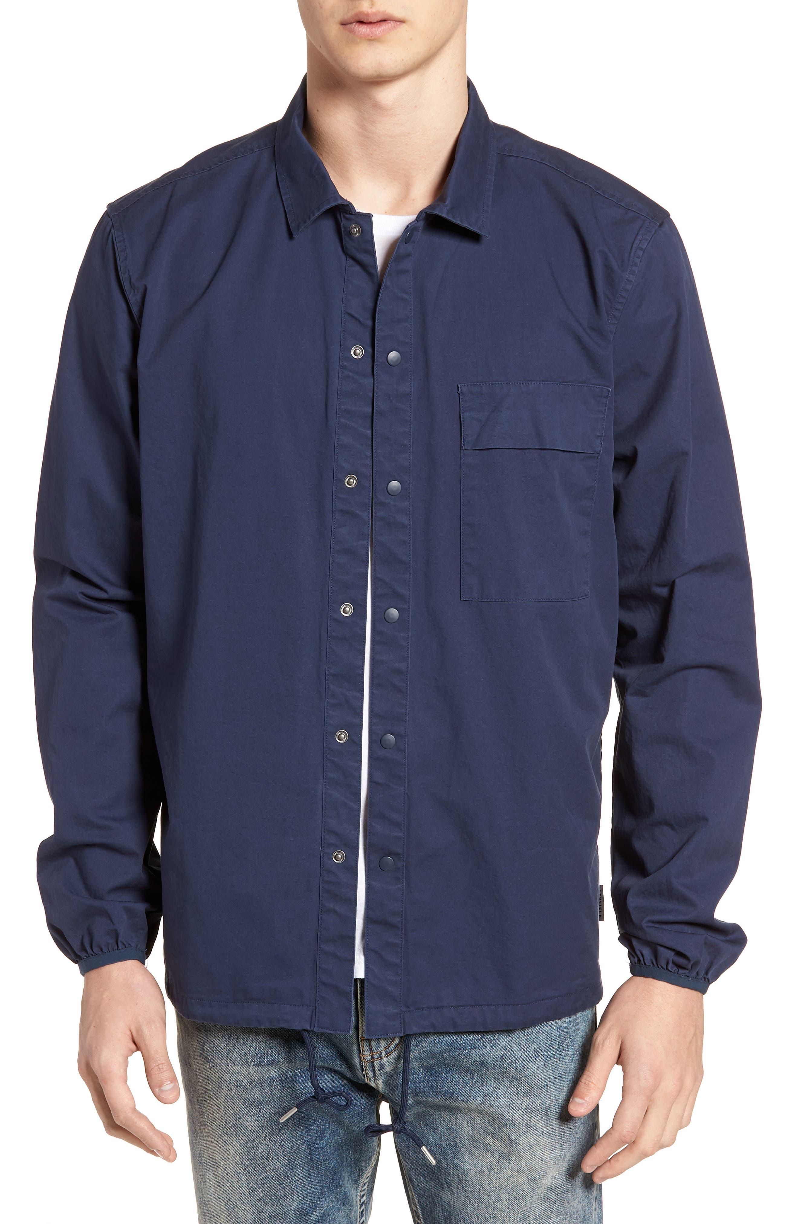 Blackstone Shirt Jacket,                         Main,                         color, Navy