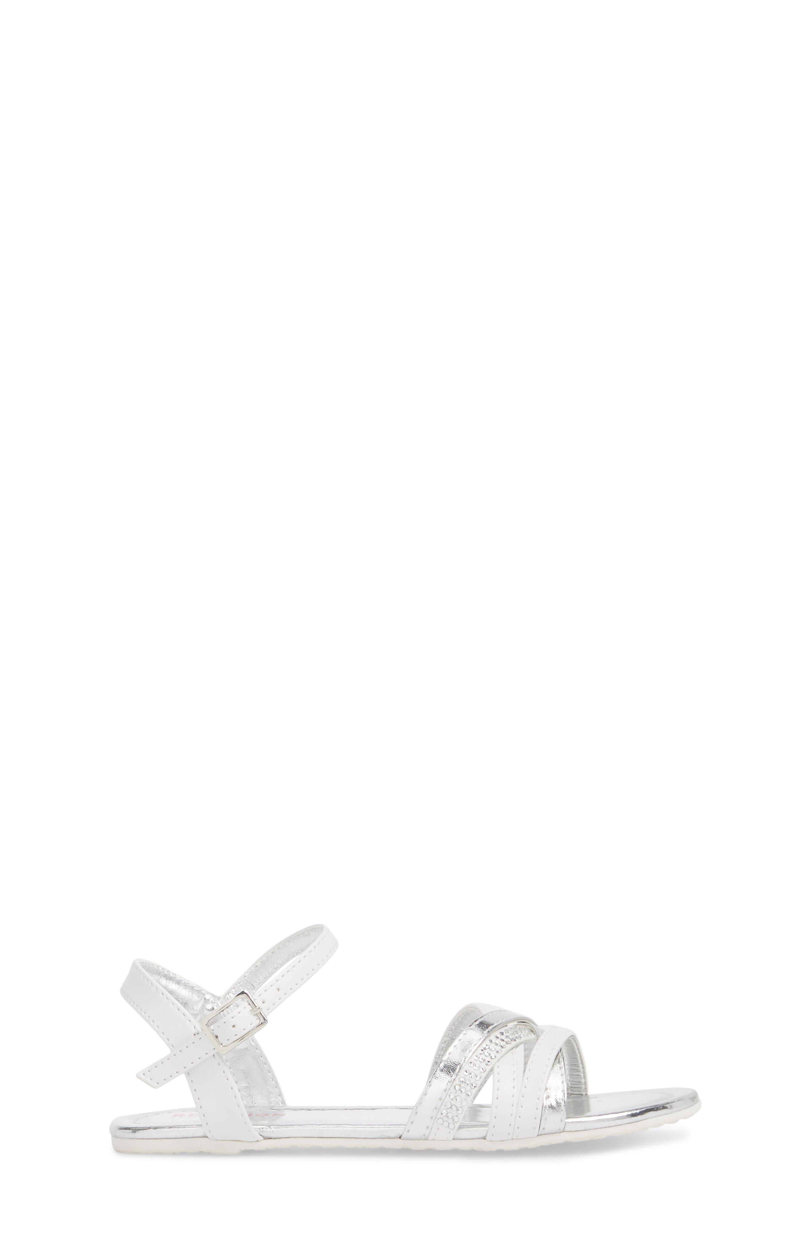 Kiera Getty Crystal Sandal,                             Alternate thumbnail 3, color,                             White