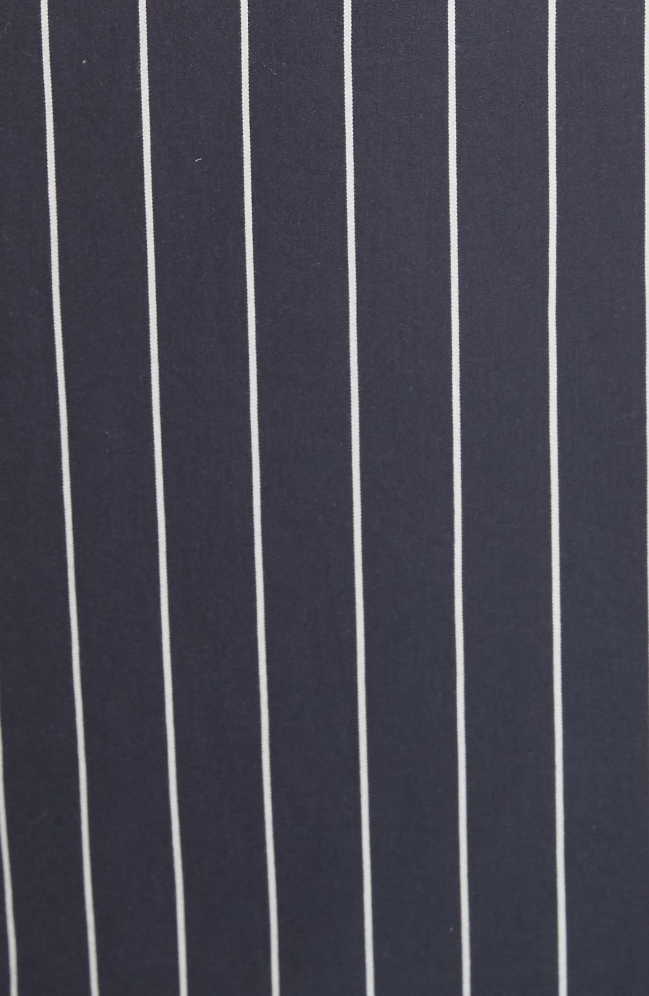 Stripe Sateen Skirt,                             Alternate thumbnail 6, color,                             Navy Multi