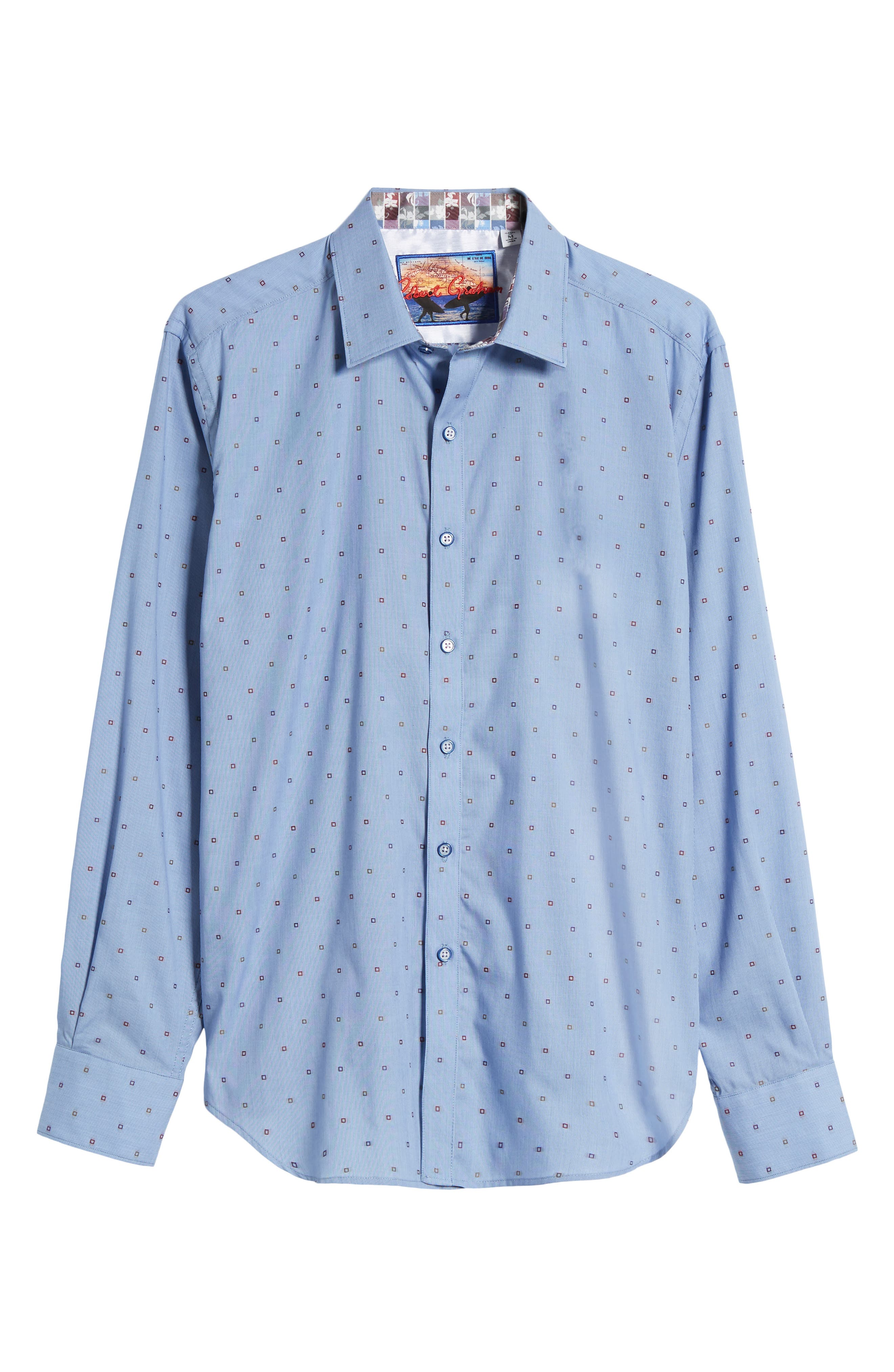 Platt Classic Fit Sport Shirt,                             Alternate thumbnail 6, color,                             Blue
