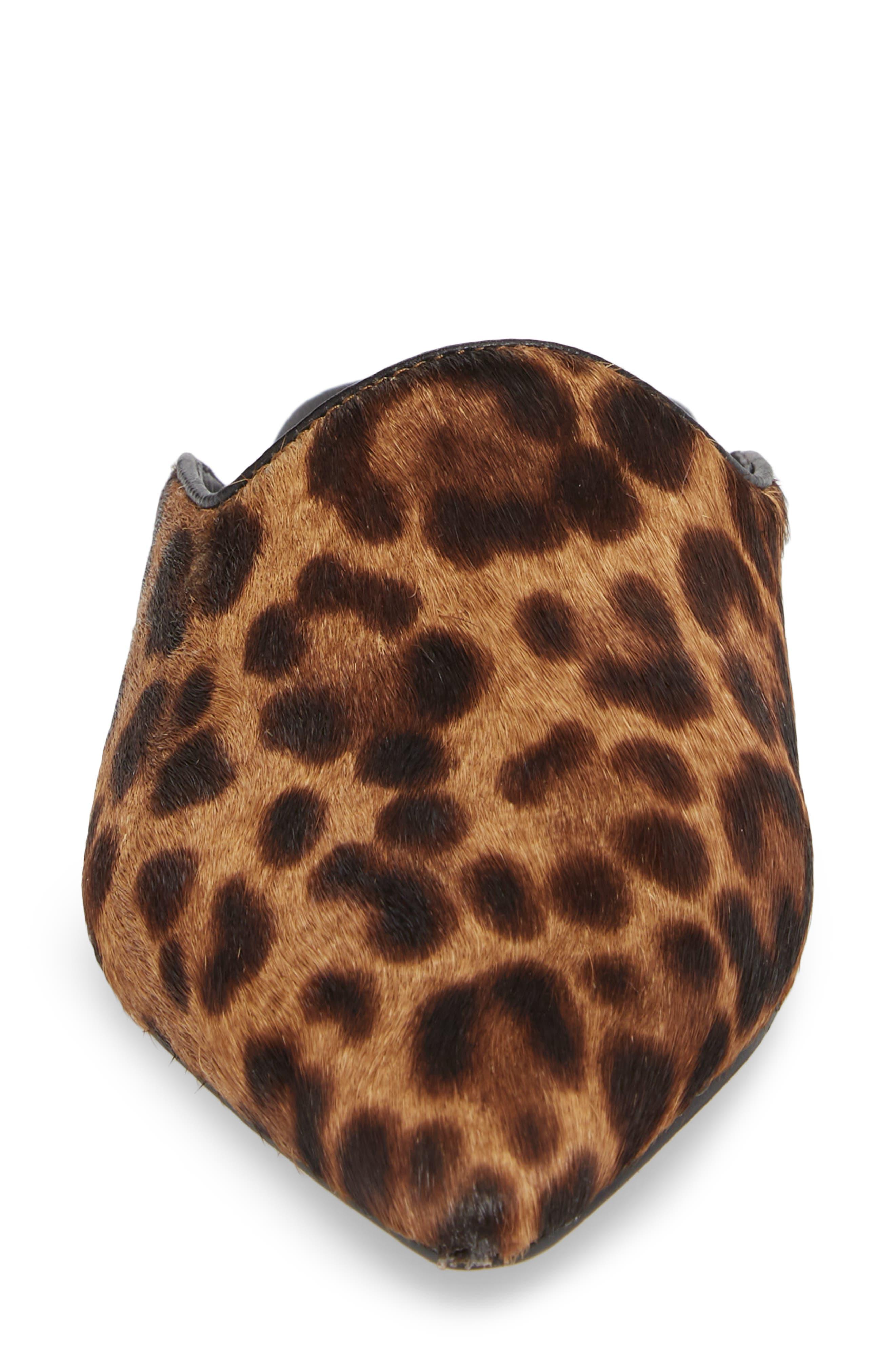 Sheenly Genuine Calf Hair Mule,                             Alternate thumbnail 4, color,                             Leopard Hair Calf