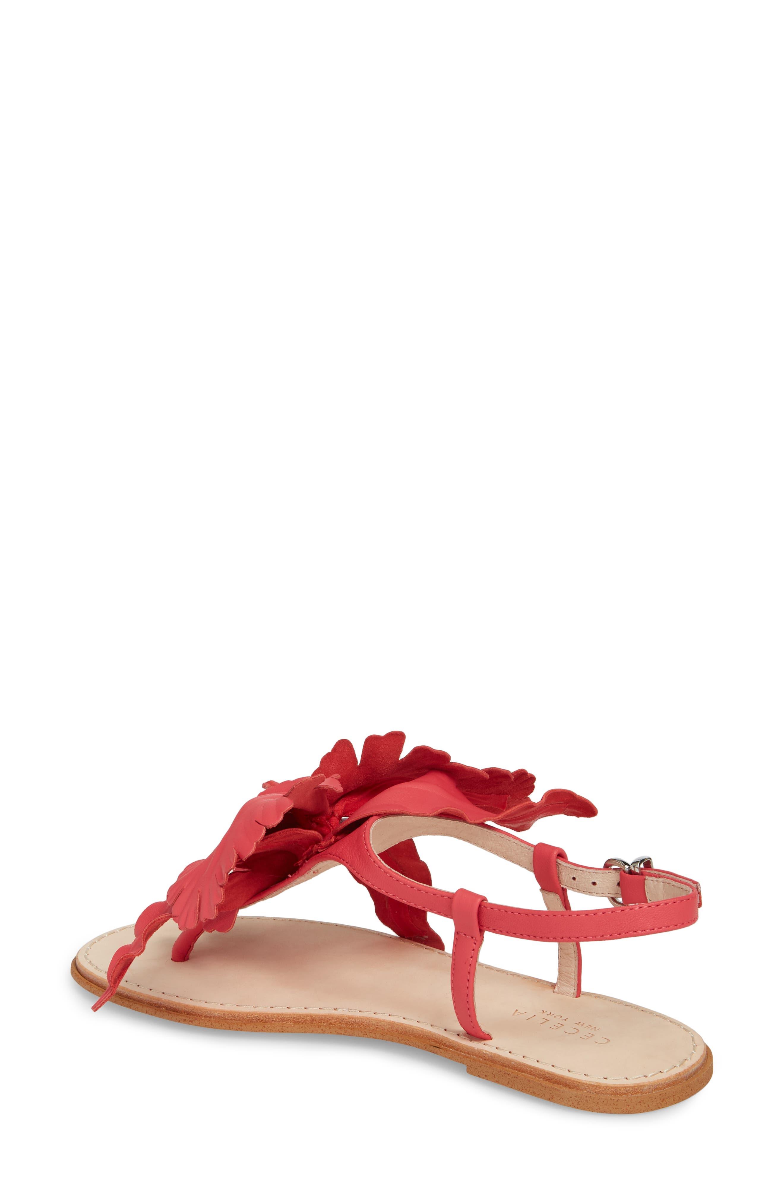 Peony Sandal,                             Alternate thumbnail 2, color,                             Fuchsia Leather