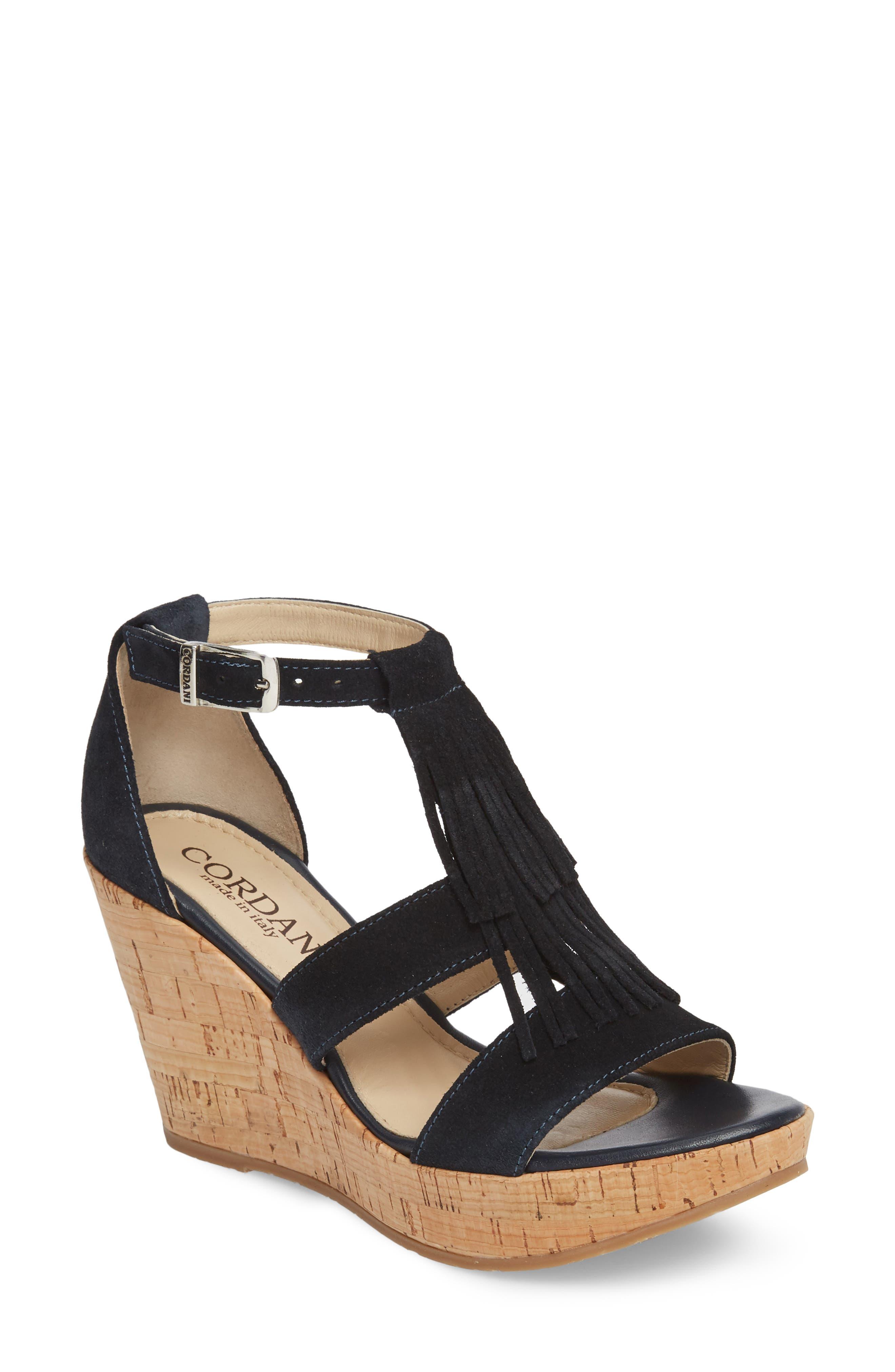 Cordani Rooney Fringe Wedge Sandal (Women)