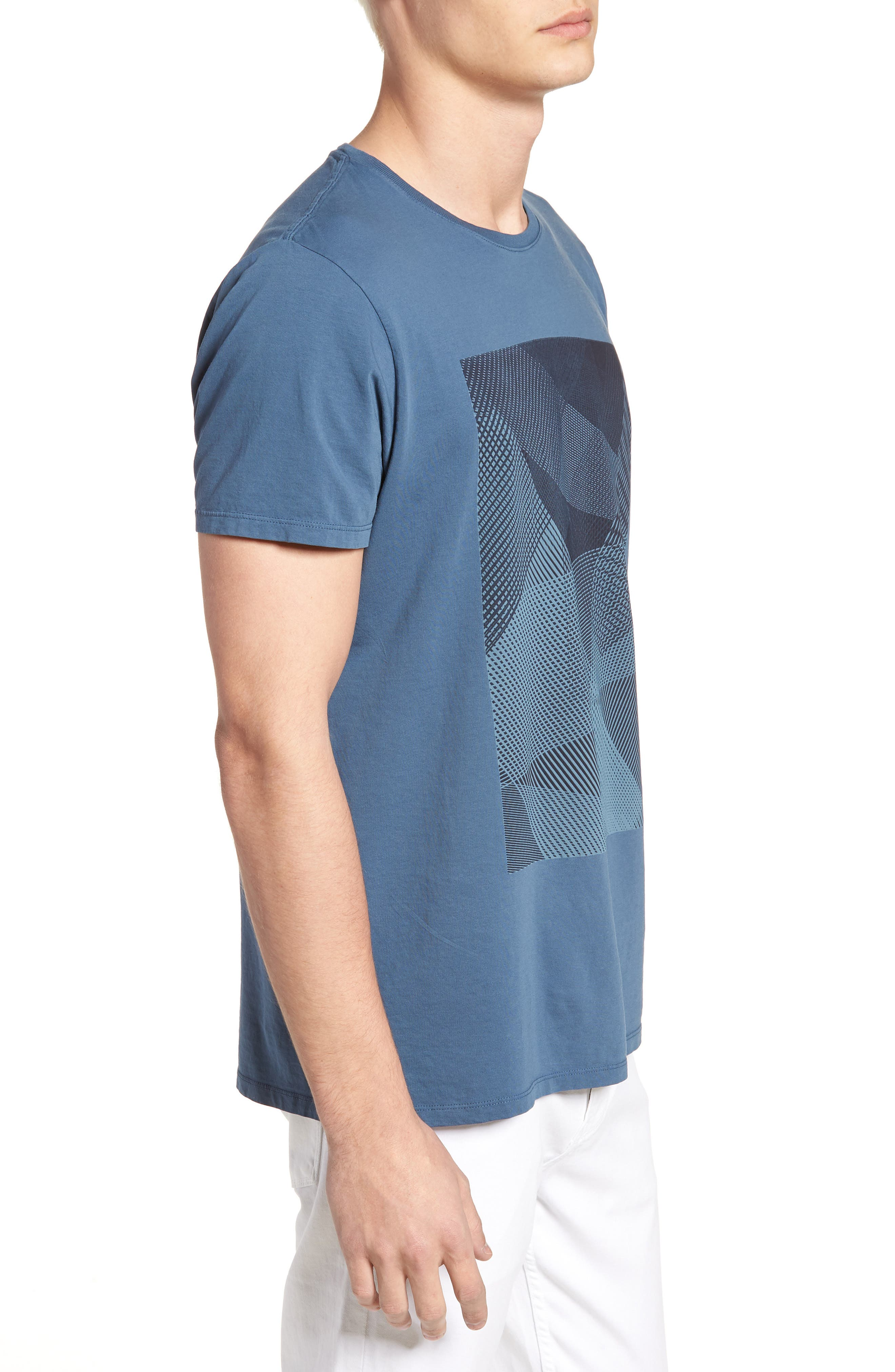 Line Matrix Graphic T-Shirt,                             Alternate thumbnail 4, color,                             Navy