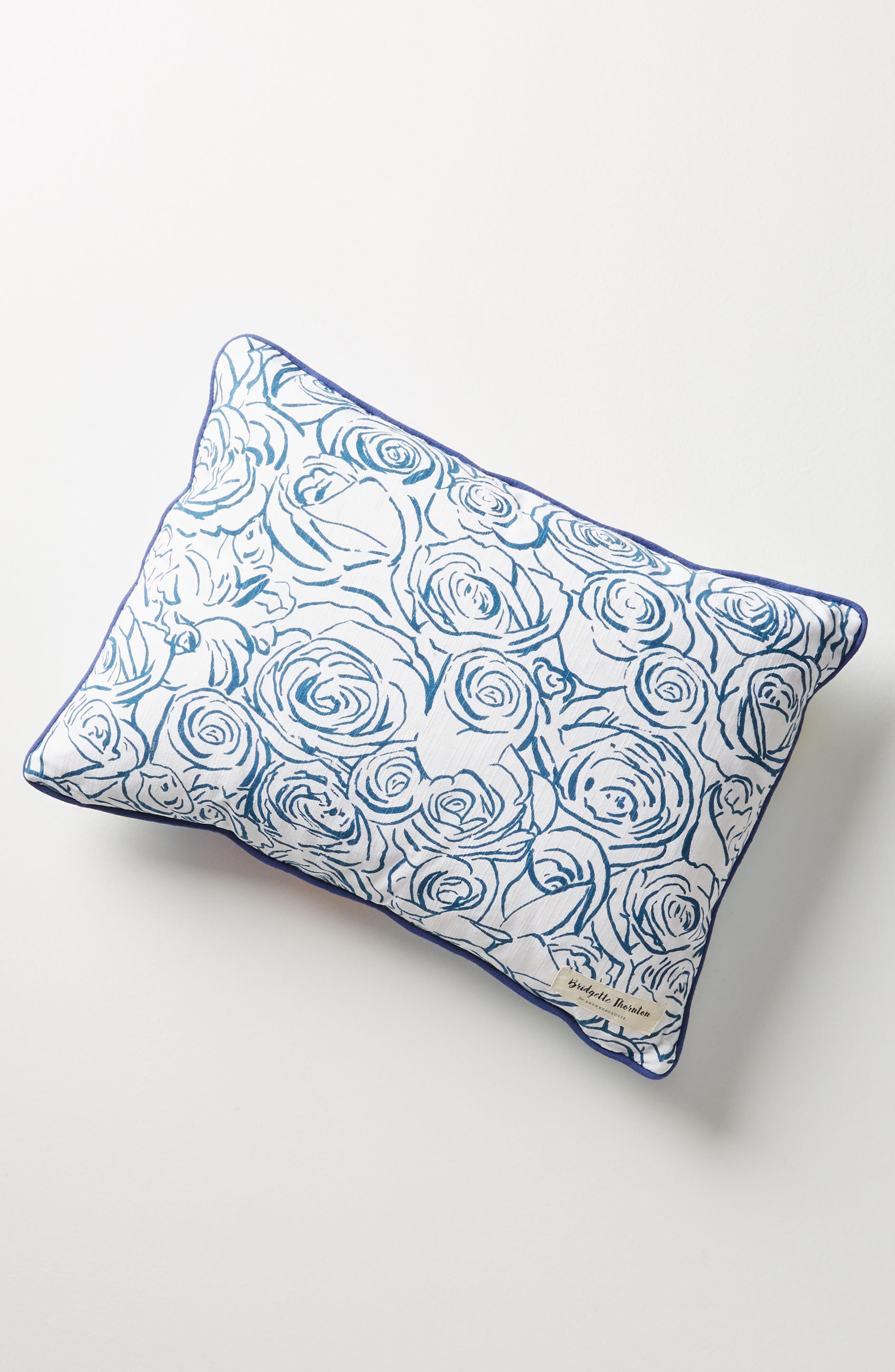 Paint + Petals Accent Pillow,                             Alternate thumbnail 2, color,                             Pink