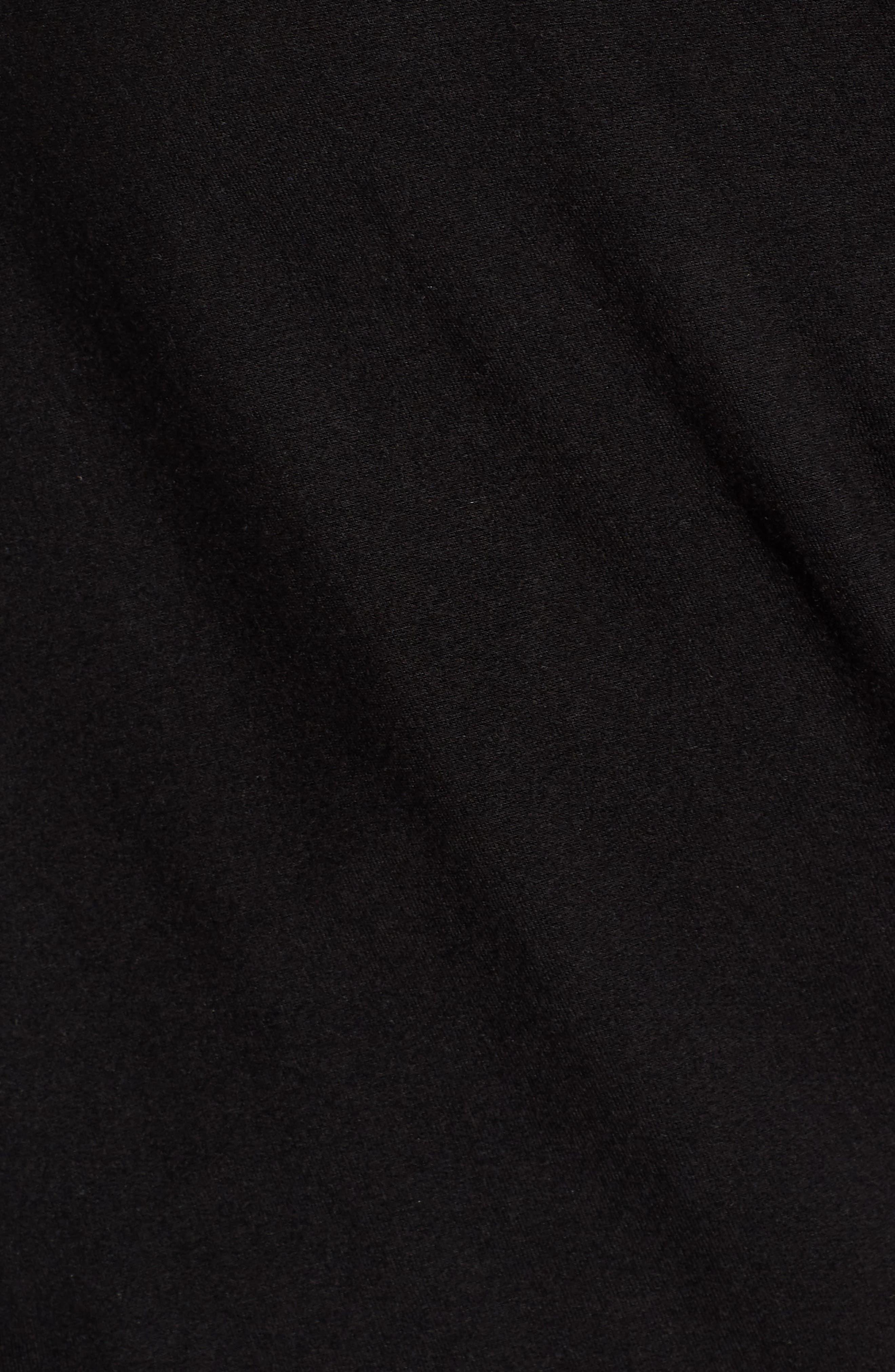 Faux Wrap Top,                             Alternate thumbnail 6, color,                             Black