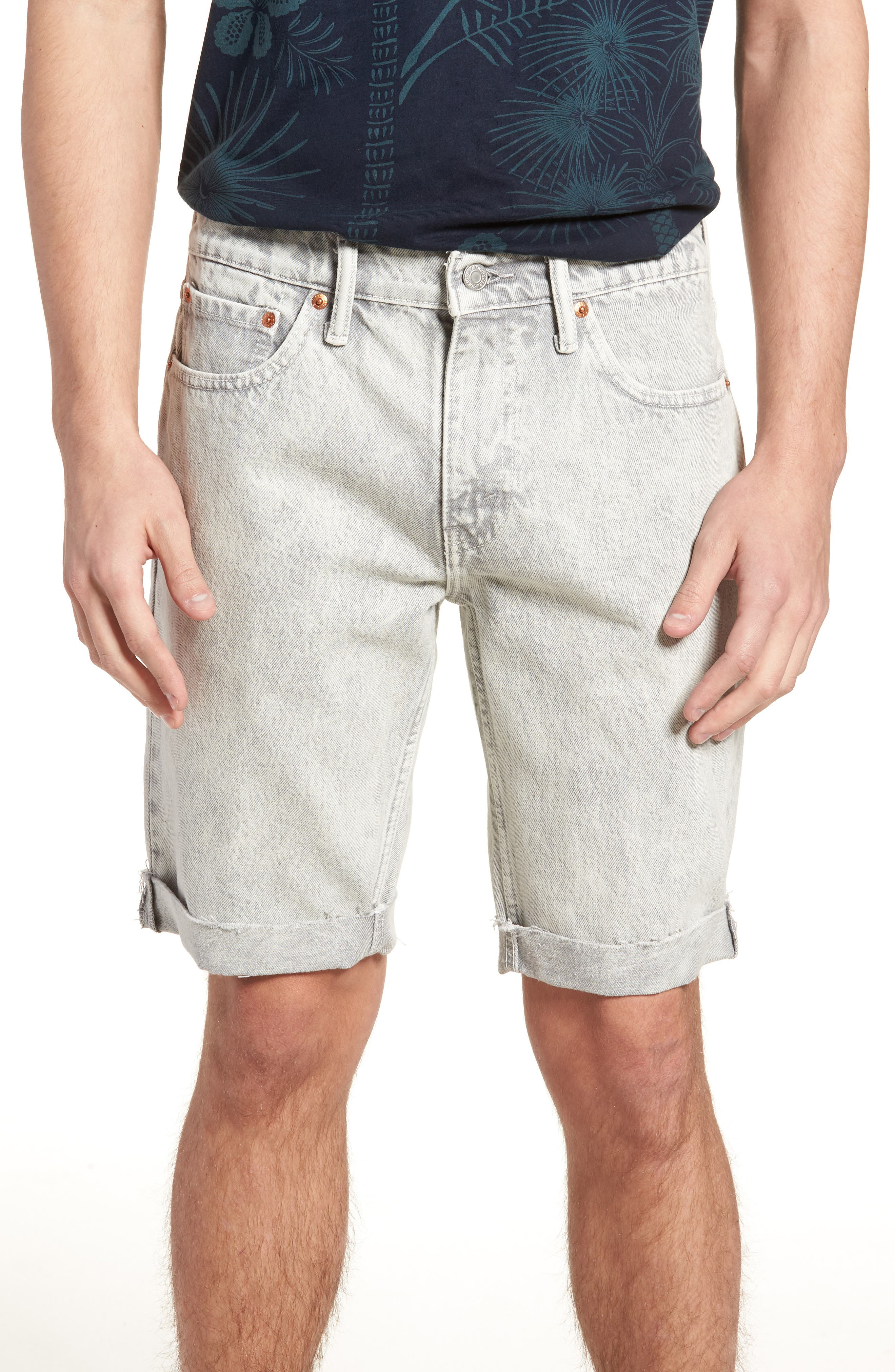 511<sup>™</sup> Cutoff Slim Fit Shorts,                         Main,                         color, Silver Slippers