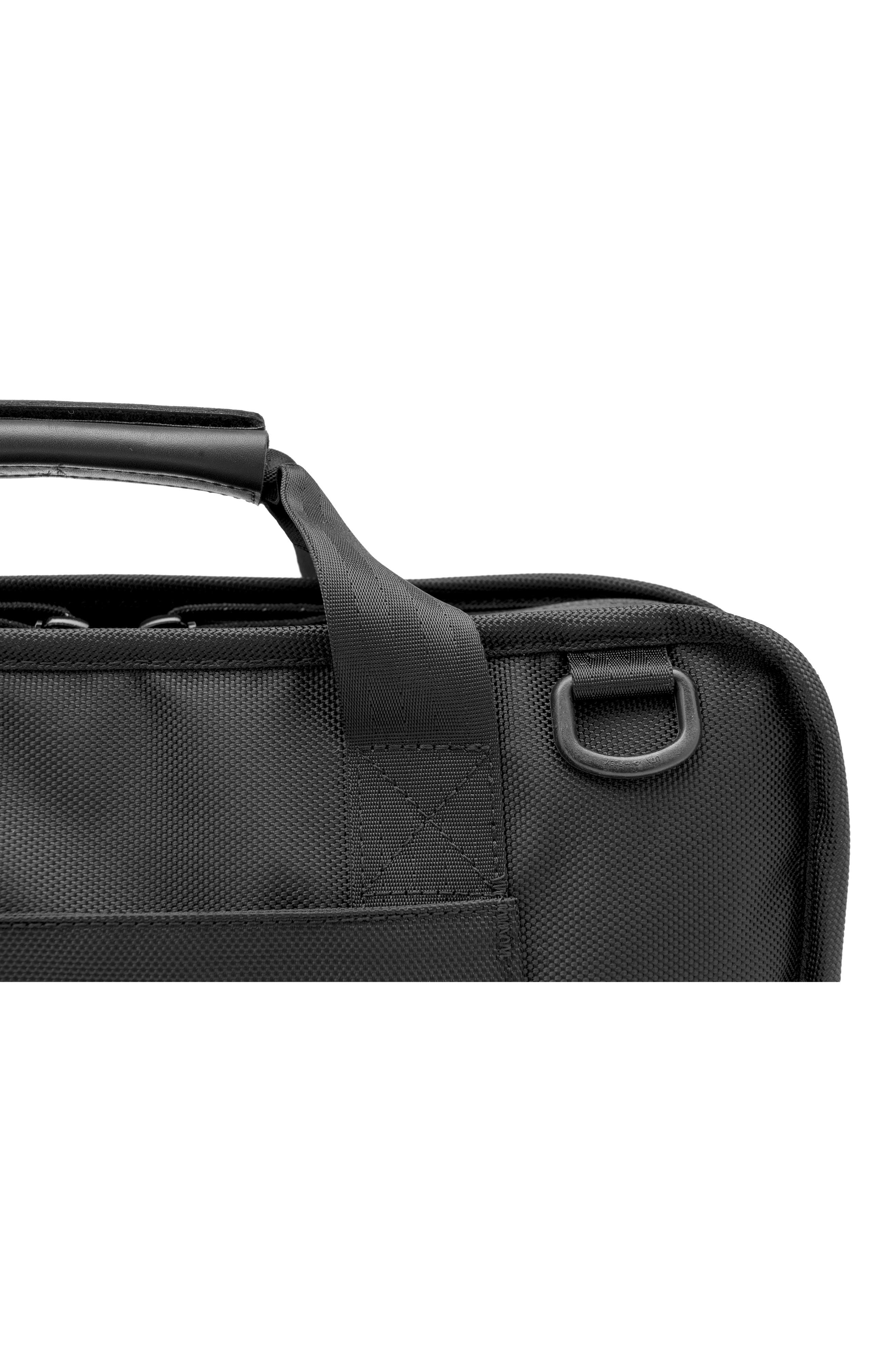 Treadwell Travel Vega Convertible Briefcase,                             Alternate thumbnail 5, color,                             All Black