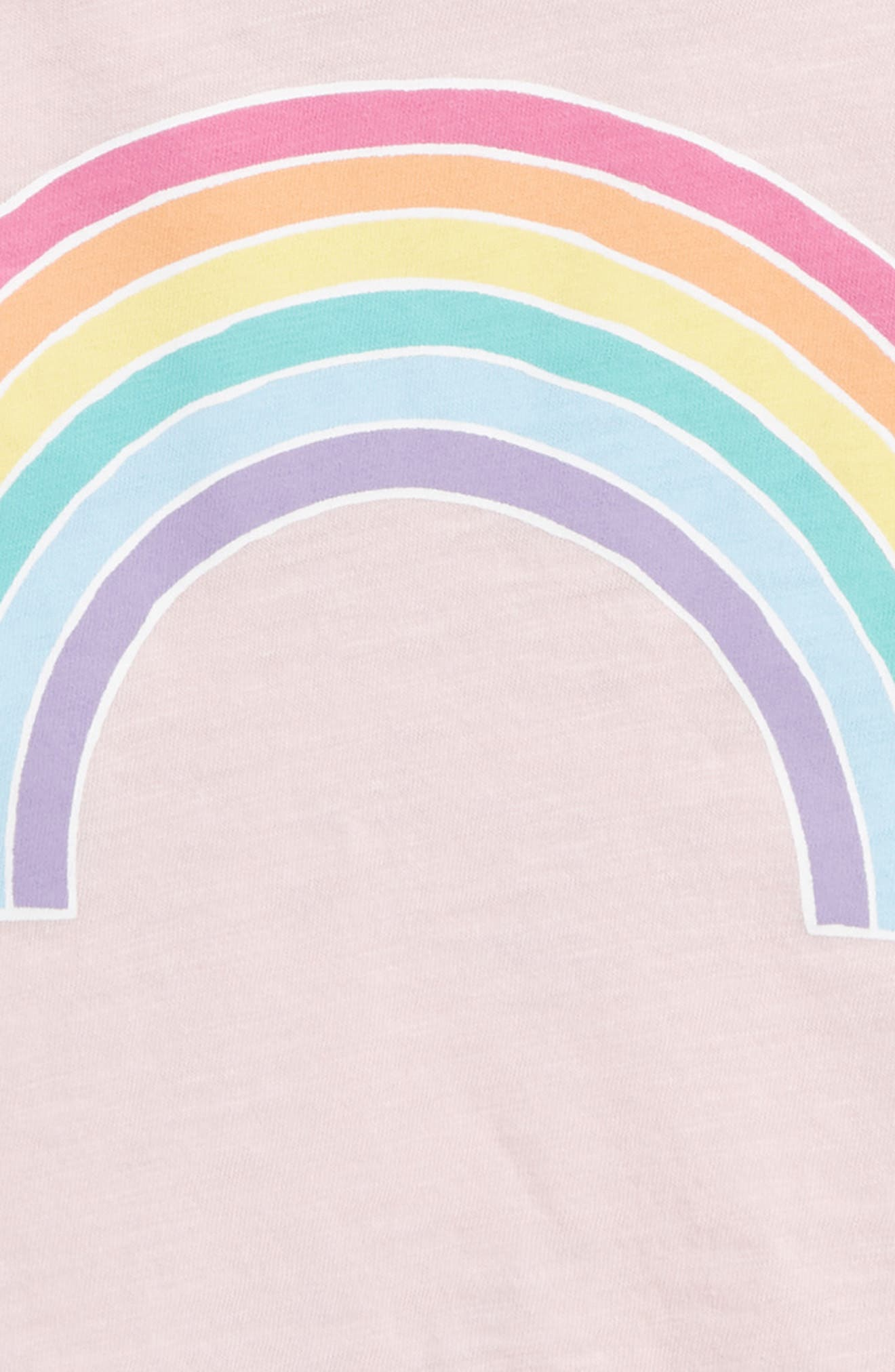 Rainbow Graphic Tee,                             Alternate thumbnail 3, color,                             Light Pink