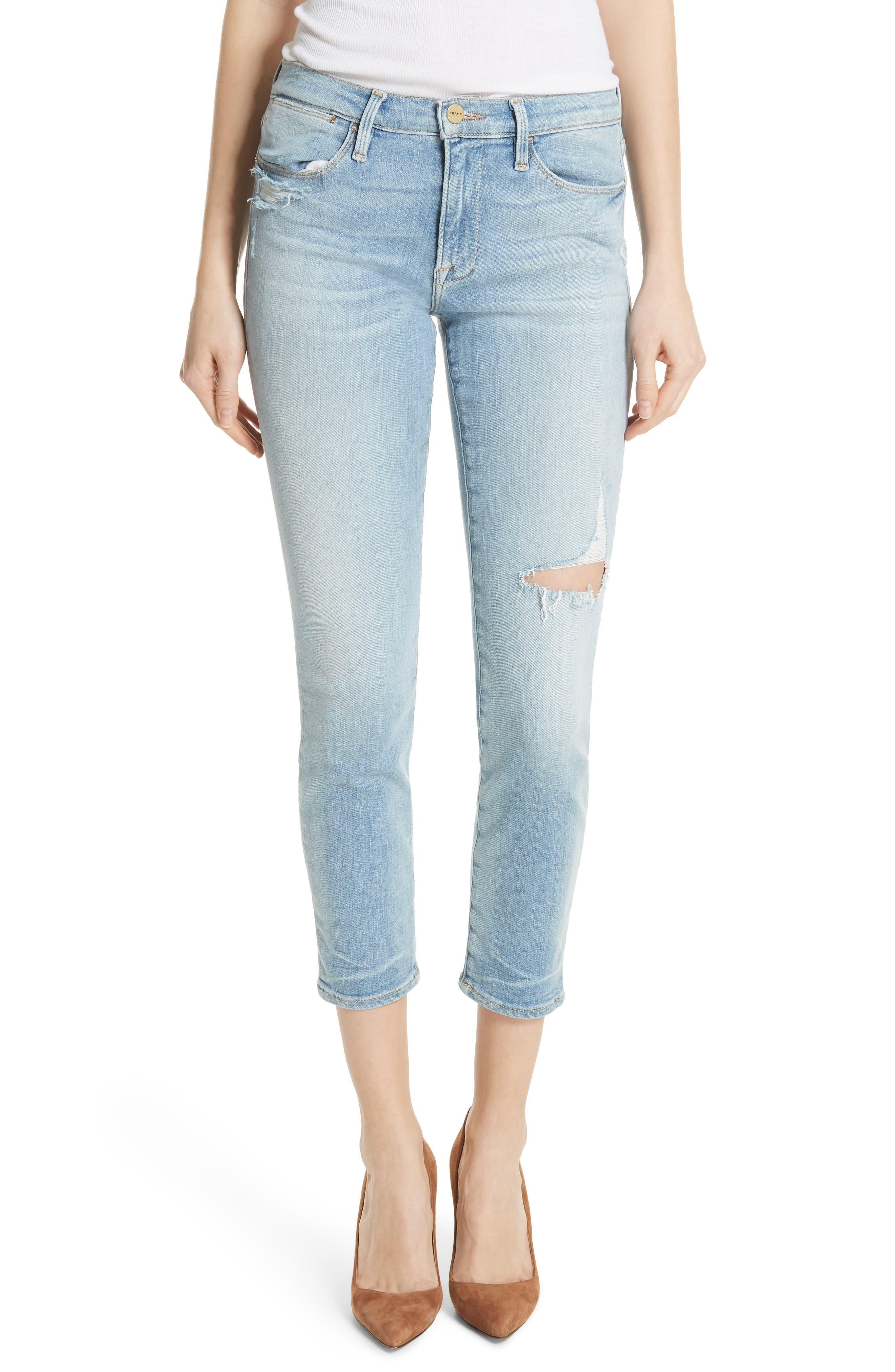 FRAME Le High Skinny Jeans (Upperton)