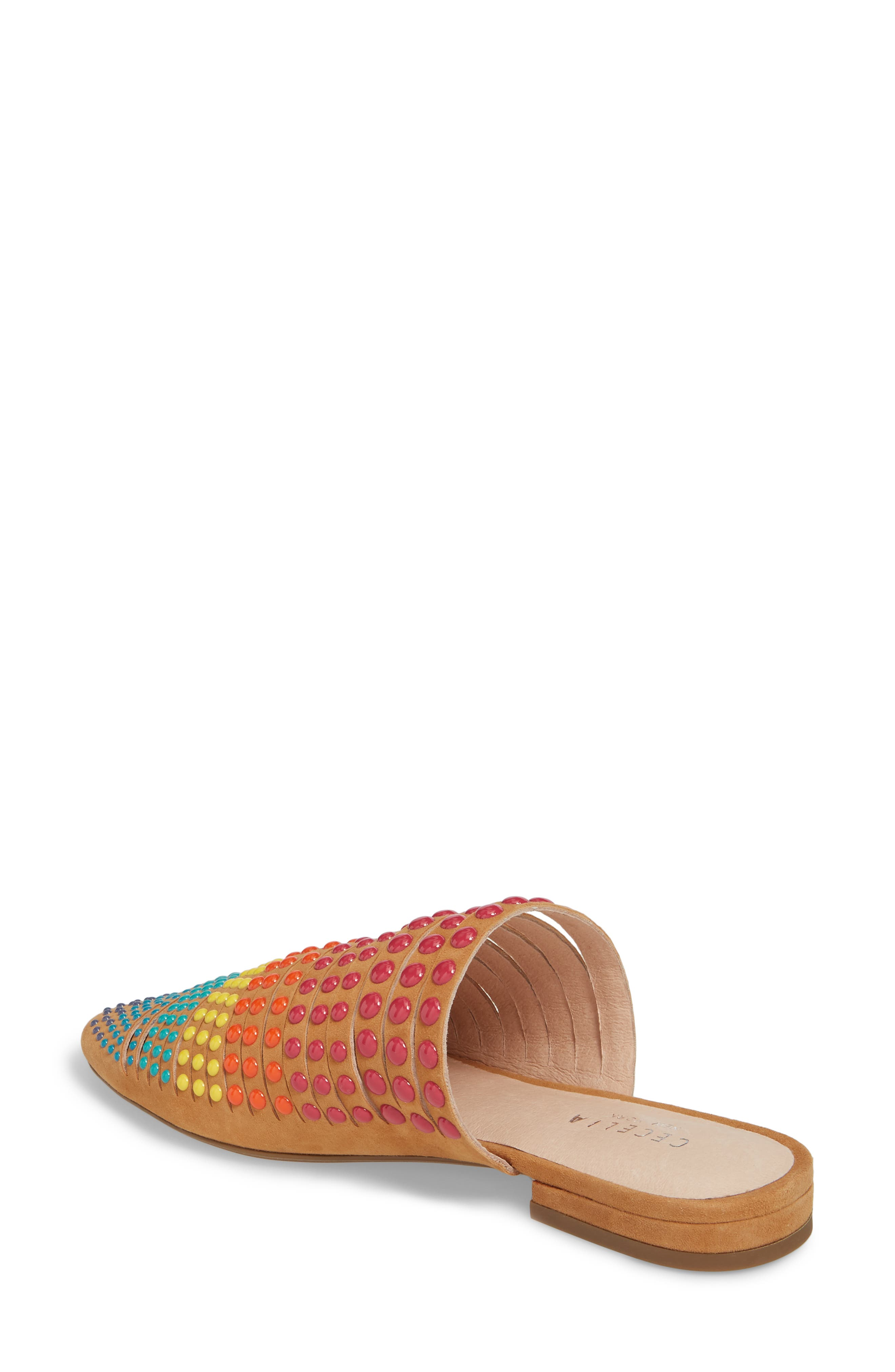 Potz Embellished Slide,                             Alternate thumbnail 2, color,                             Tan Print Suede