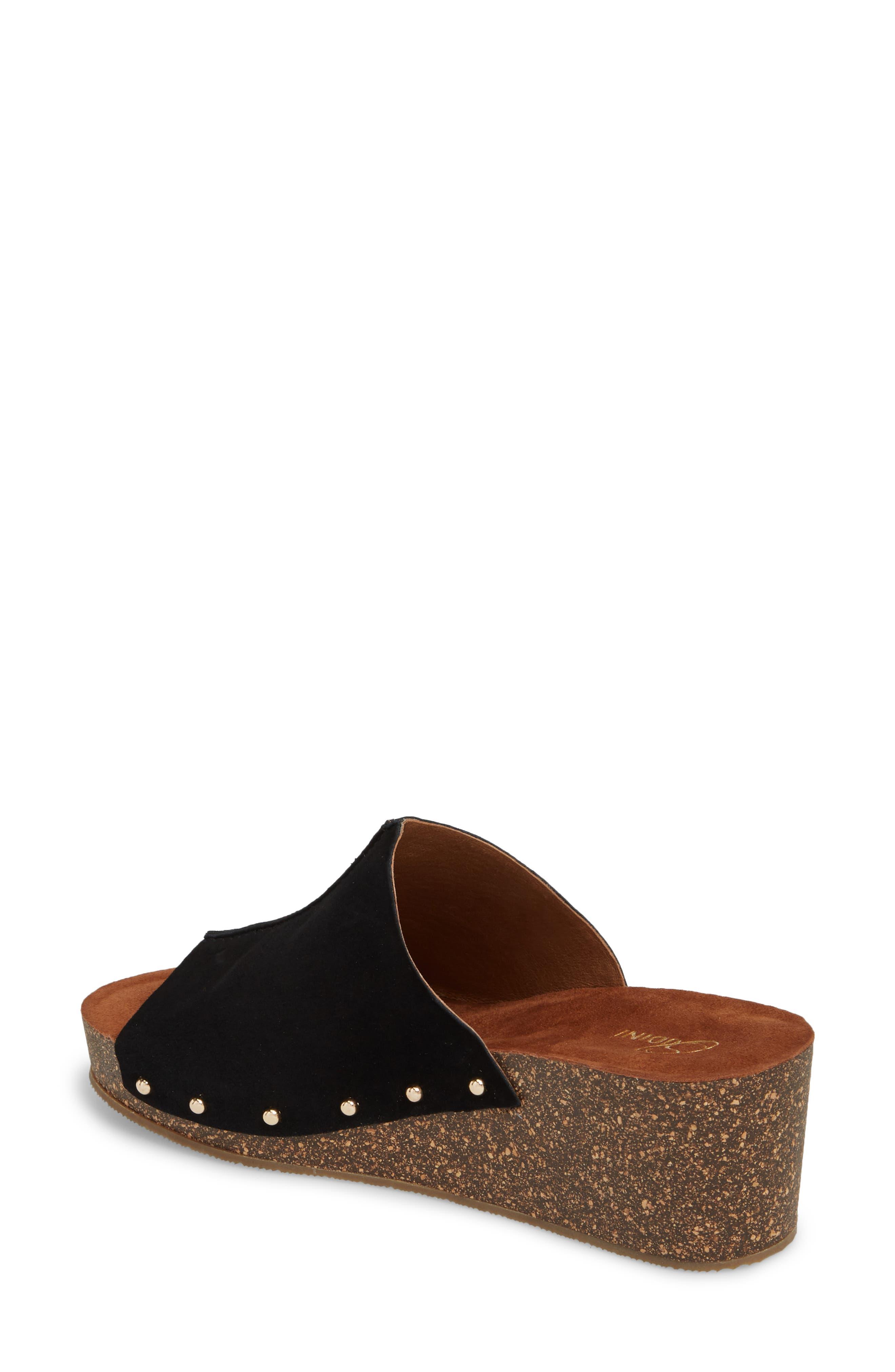 Pavia Wedge Mule,                             Alternate thumbnail 2, color,                             Black Leather