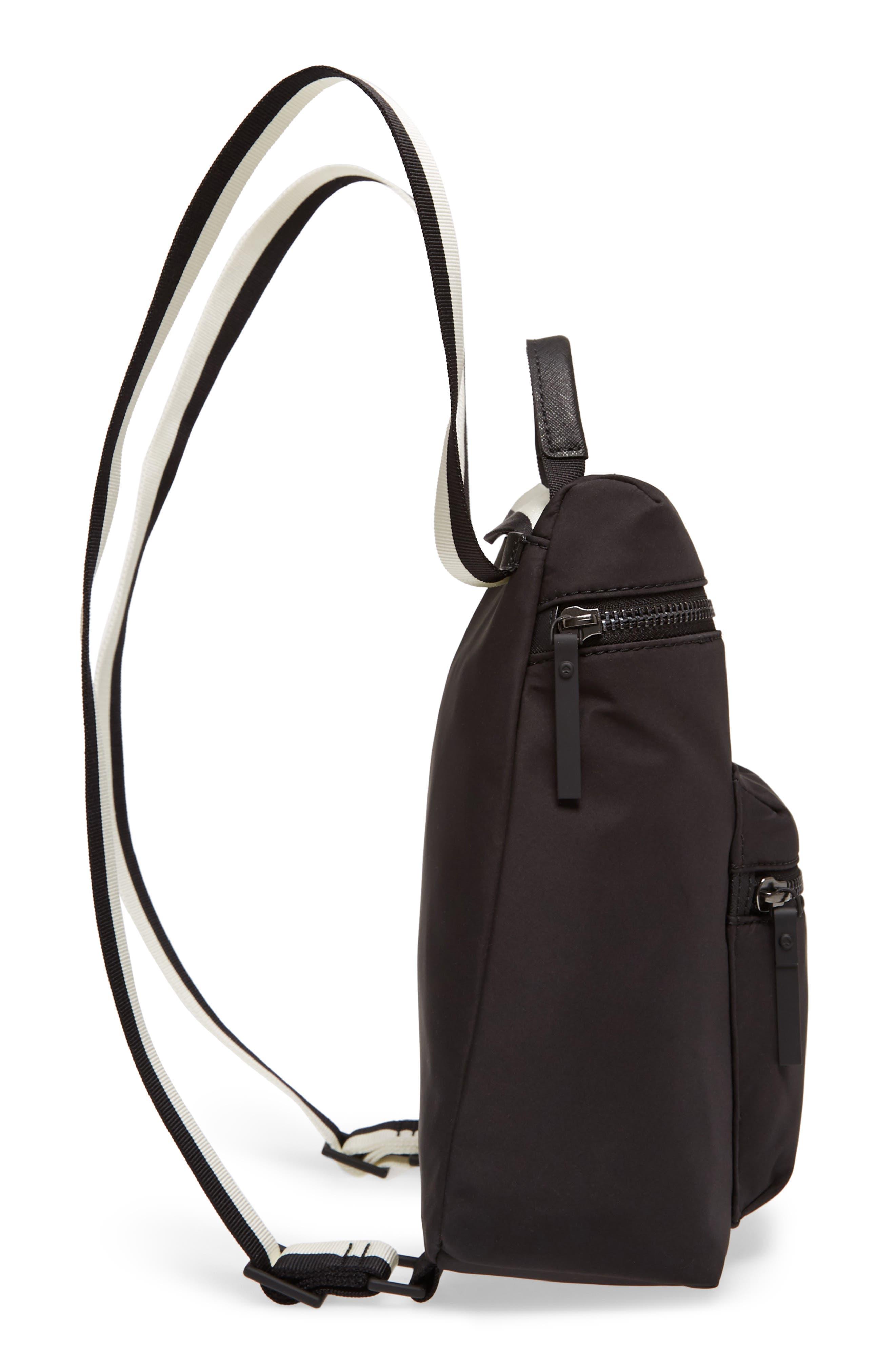 that's the spirit mini nylon convertible backpack,                             Alternate thumbnail 5, color,                             Black