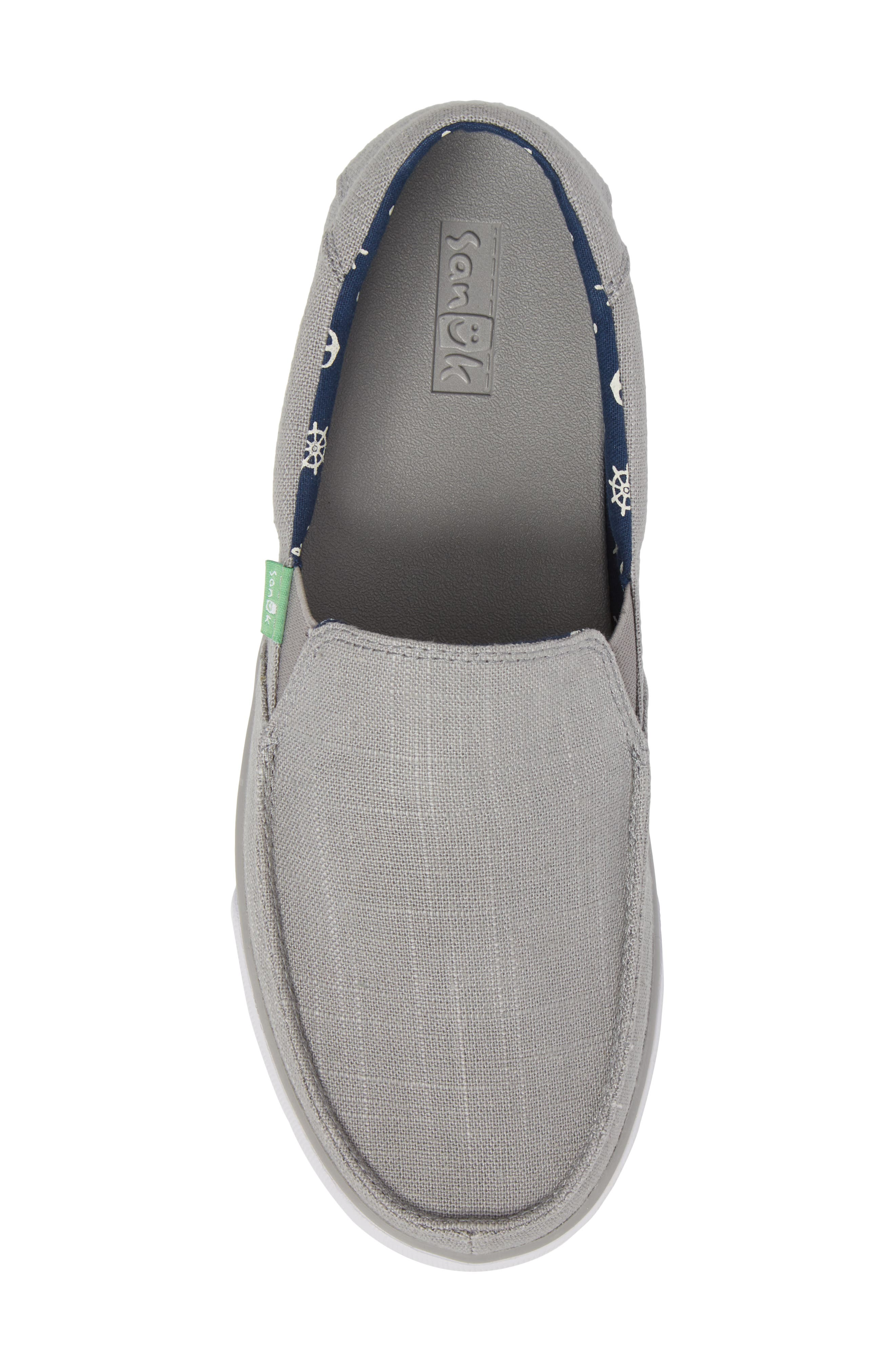 Sideline Linen Slip-On,                             Alternate thumbnail 5, color,                             Grey