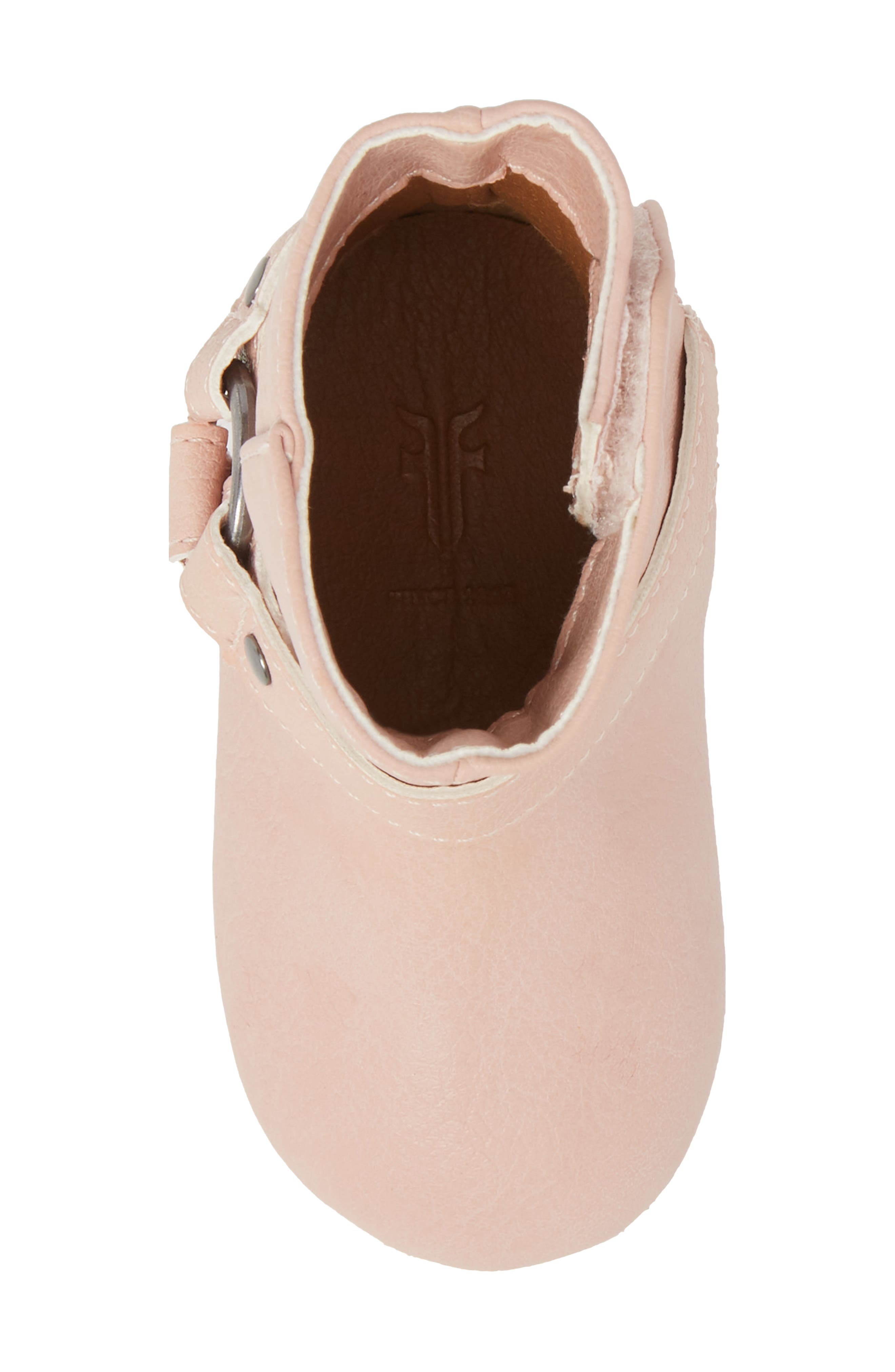 Harness Boot Crib Shoe,                             Alternate thumbnail 5, color,                             Baby Pink