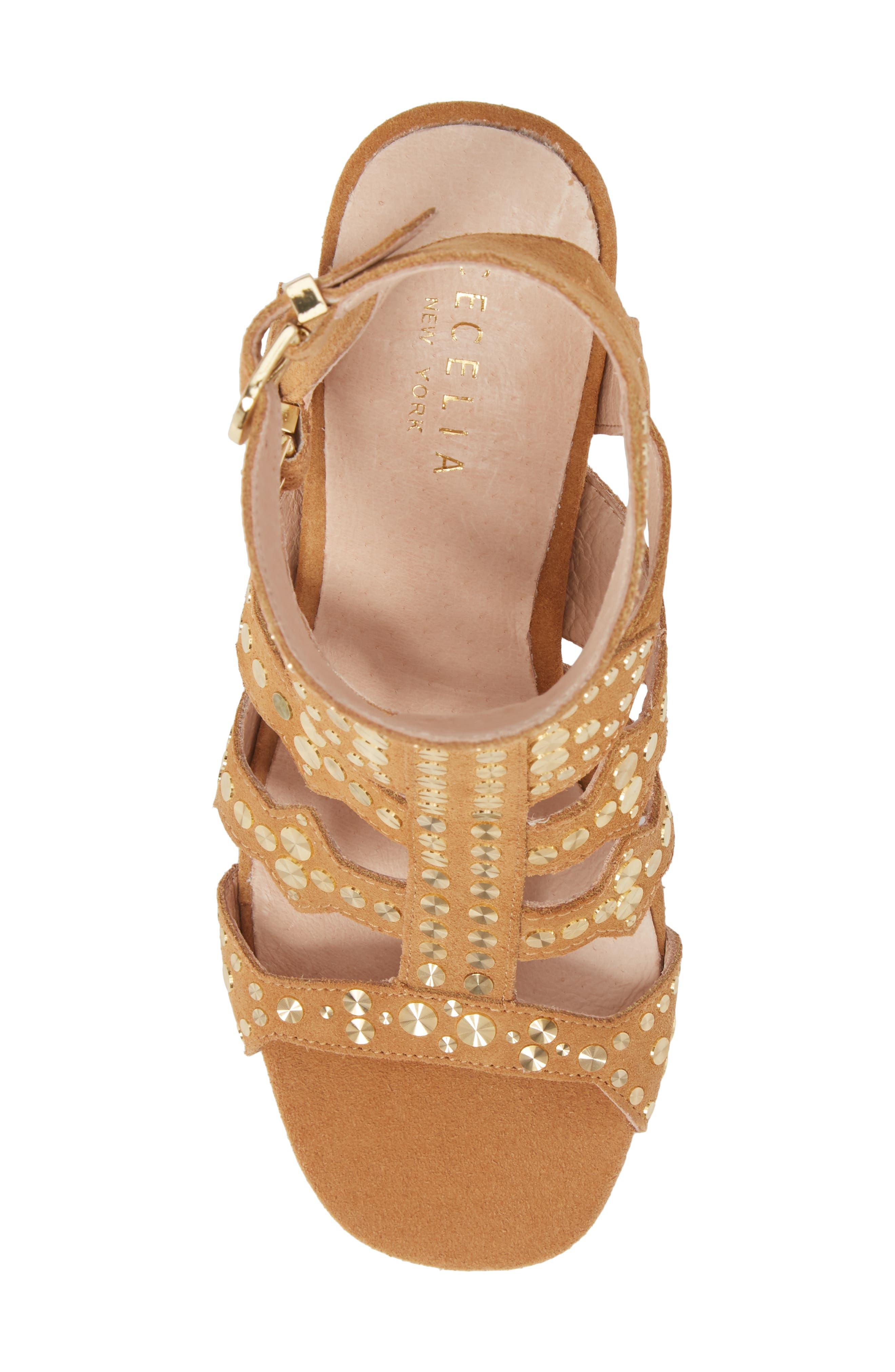 Cosmo Studded Sandal,                             Alternate thumbnail 5, color,                             Sand Suede