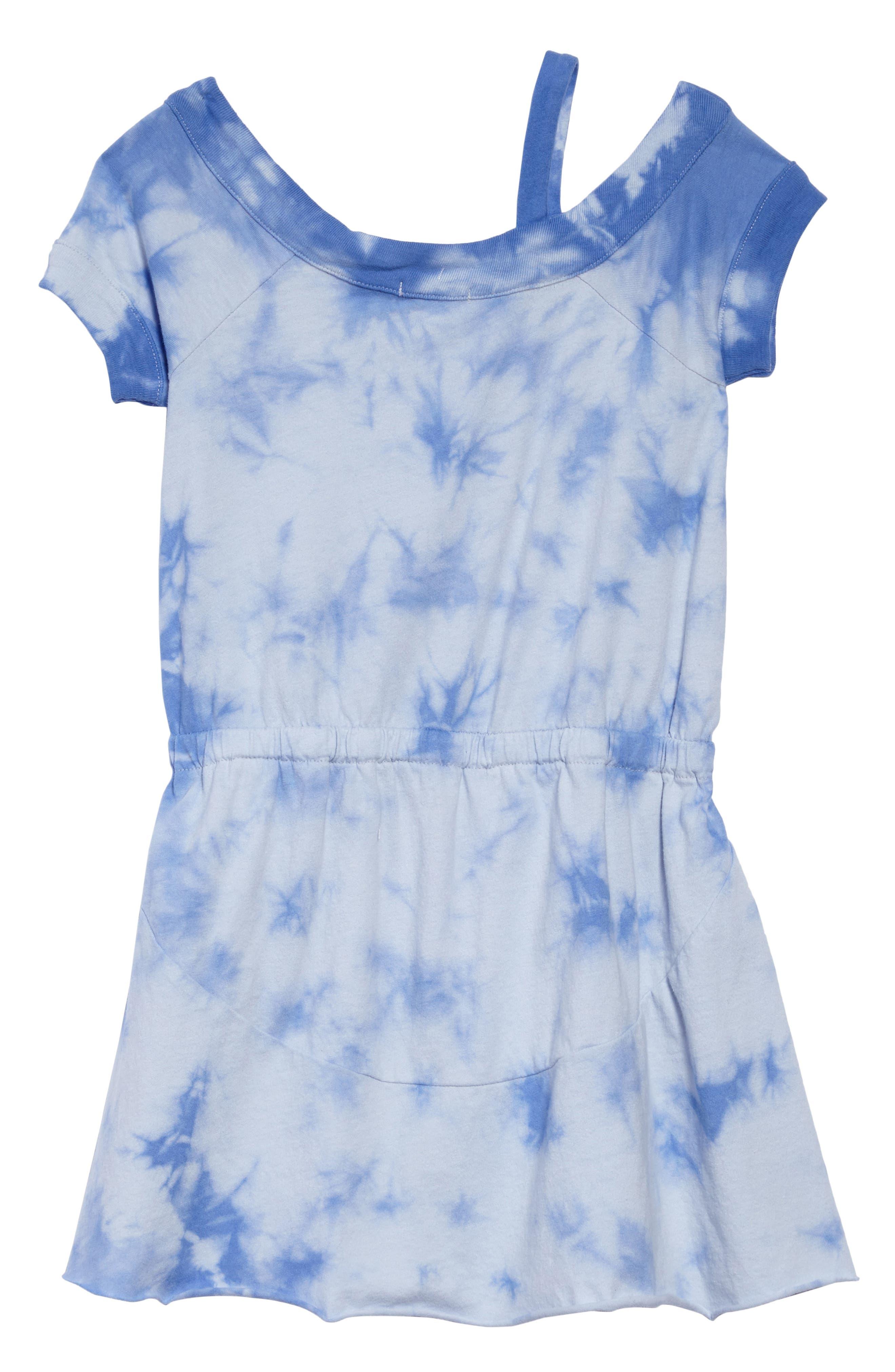 One-Shoulder Tie Dye Dress,                             Alternate thumbnail 2, color,                             Hydrangea