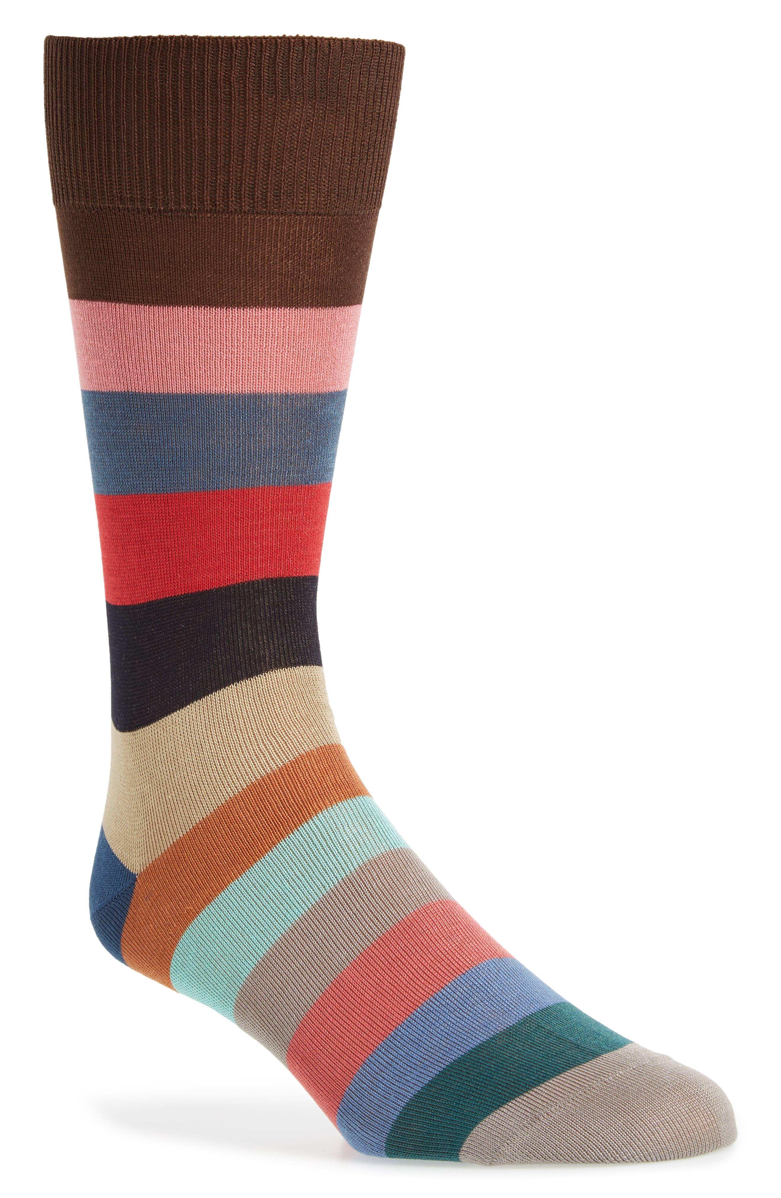 Tie Stripe Socks,                         Main,                         color, Black/ Grey Multi