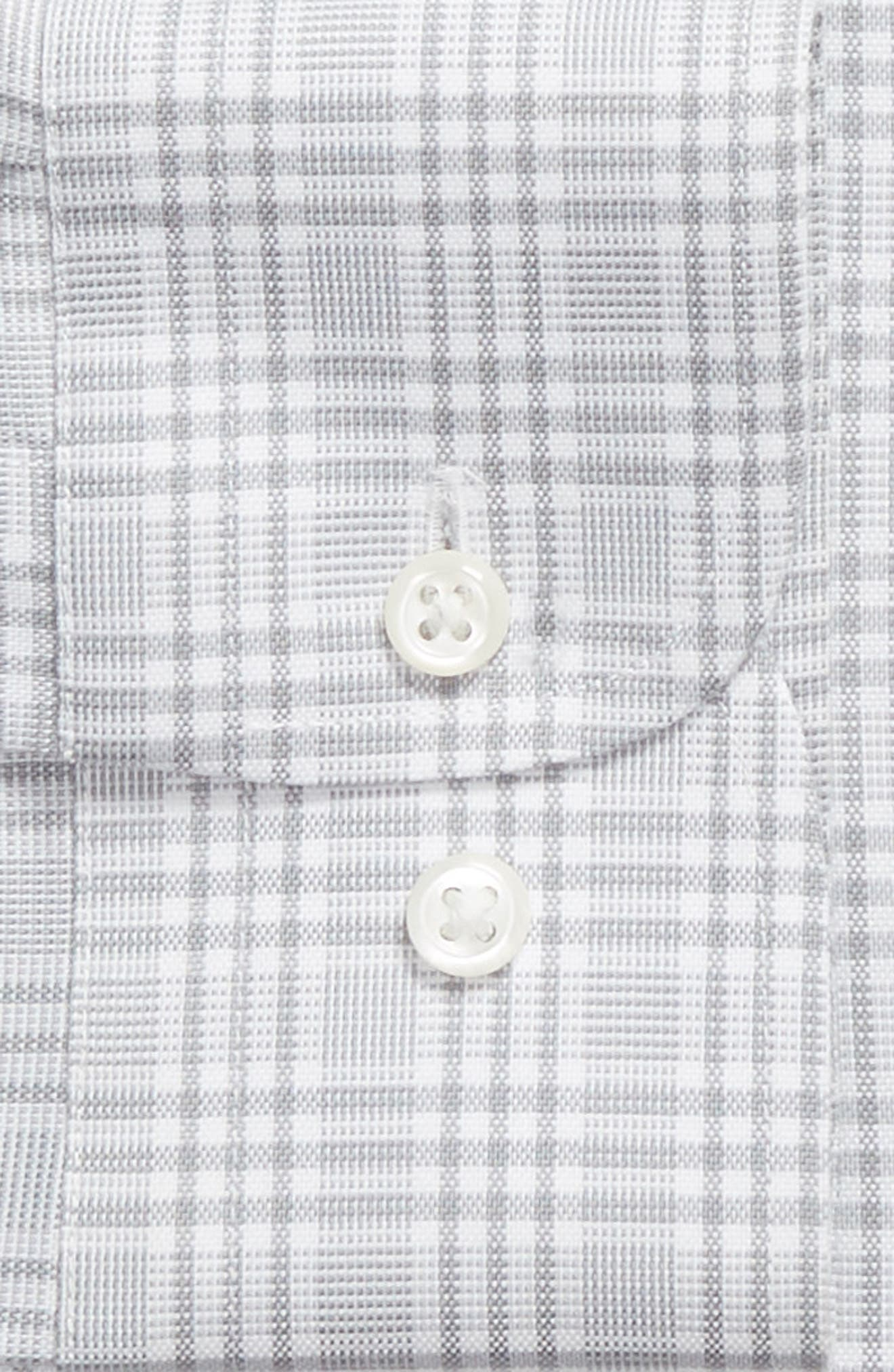 Smartcare<sup>™</sup> Traditional Fit Plaid Dress Shirt,                             Alternate thumbnail 5, color,                             Grey Sleet