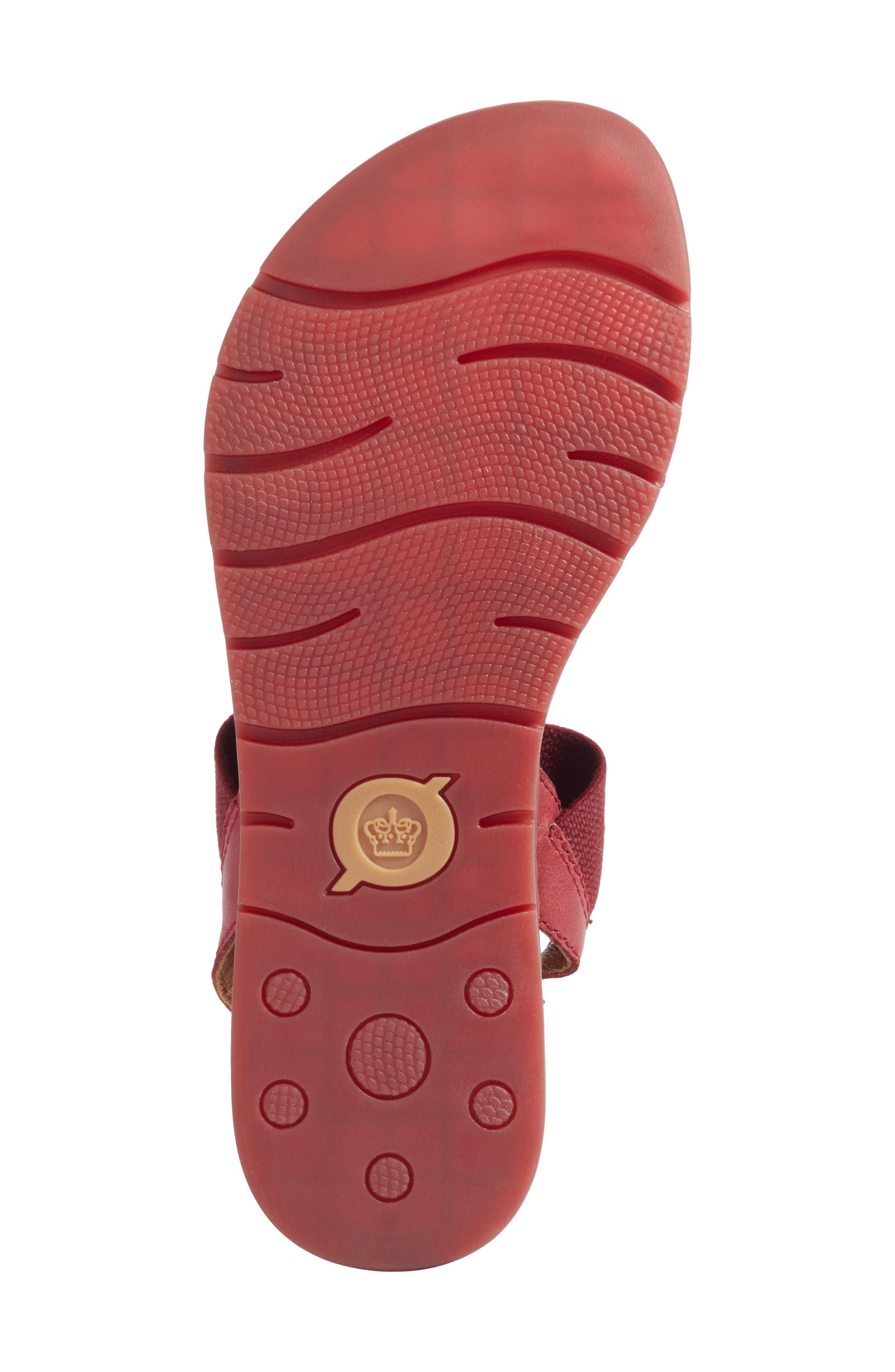 Börn Elstar Sandal,                             Alternate thumbnail 6, color,                             Red Leather