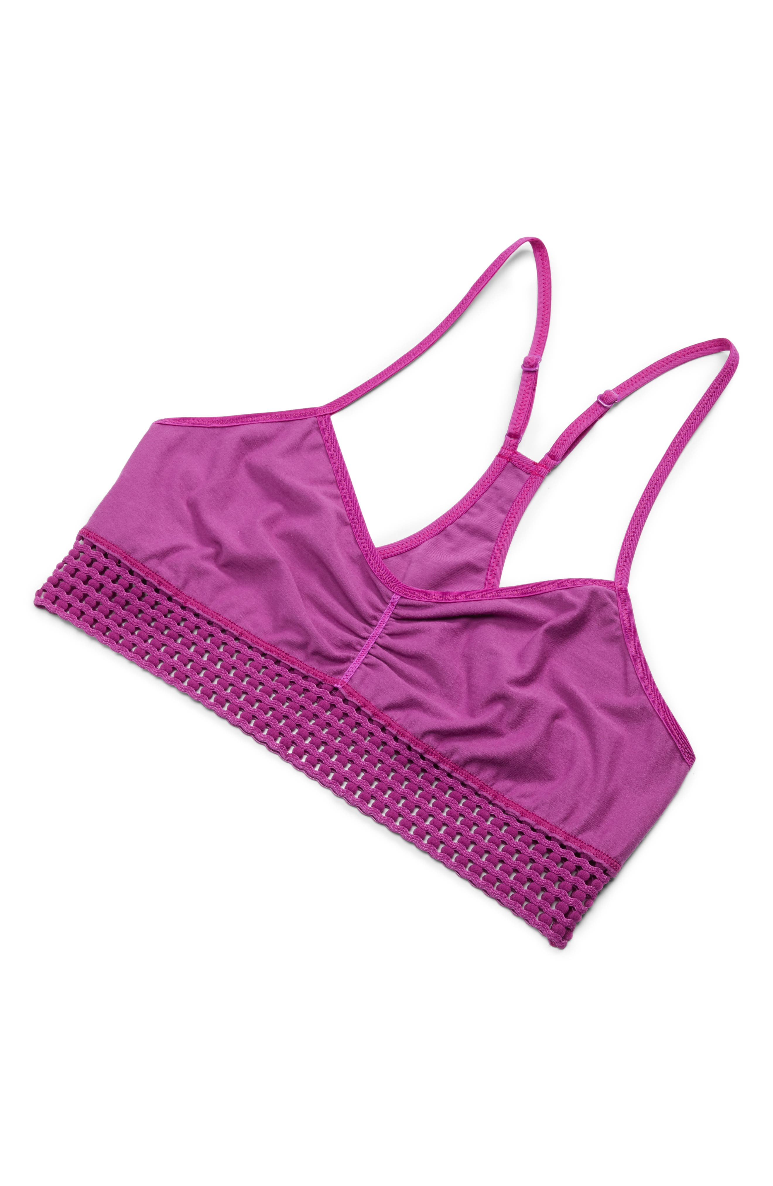 Intimately FP Hadley Racerback Bralette,                             Alternate thumbnail 5, color,                             Pink