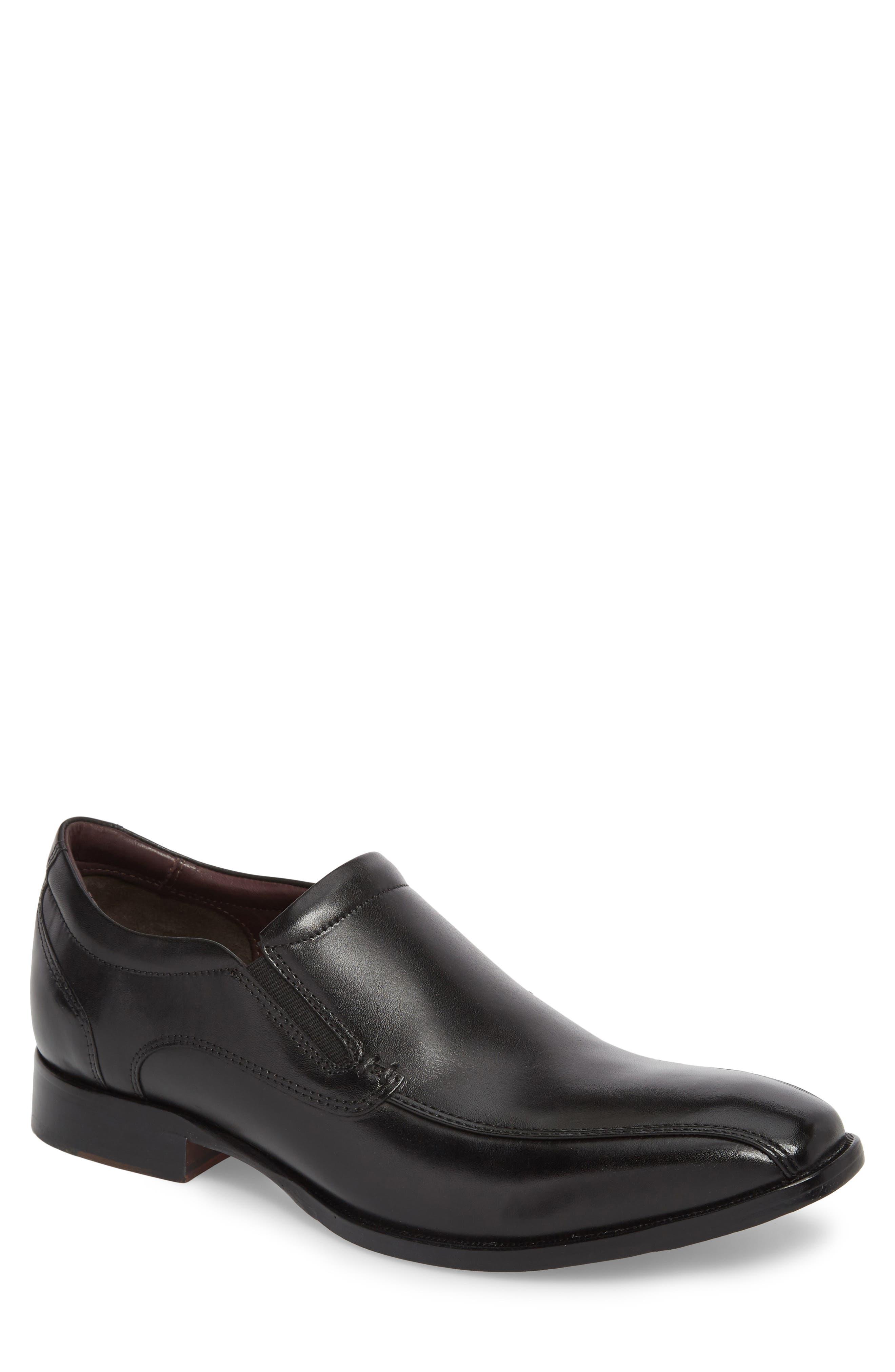 McClain Runoff Bike Toe Slip-On,                         Main,                         color, Black Leather