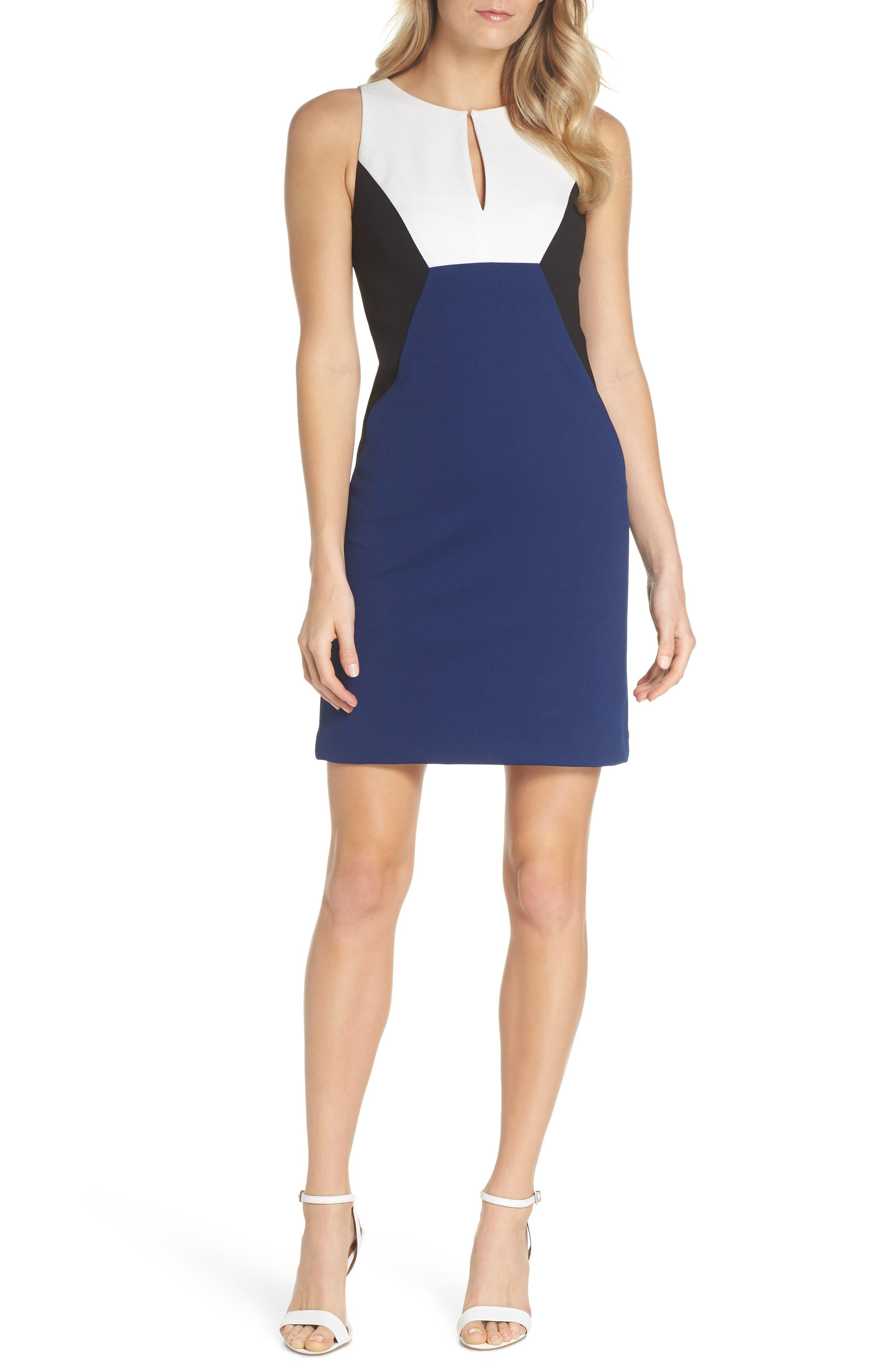 Evelyn Colorblock Sheath Dress,                         Main,                         color, Multi