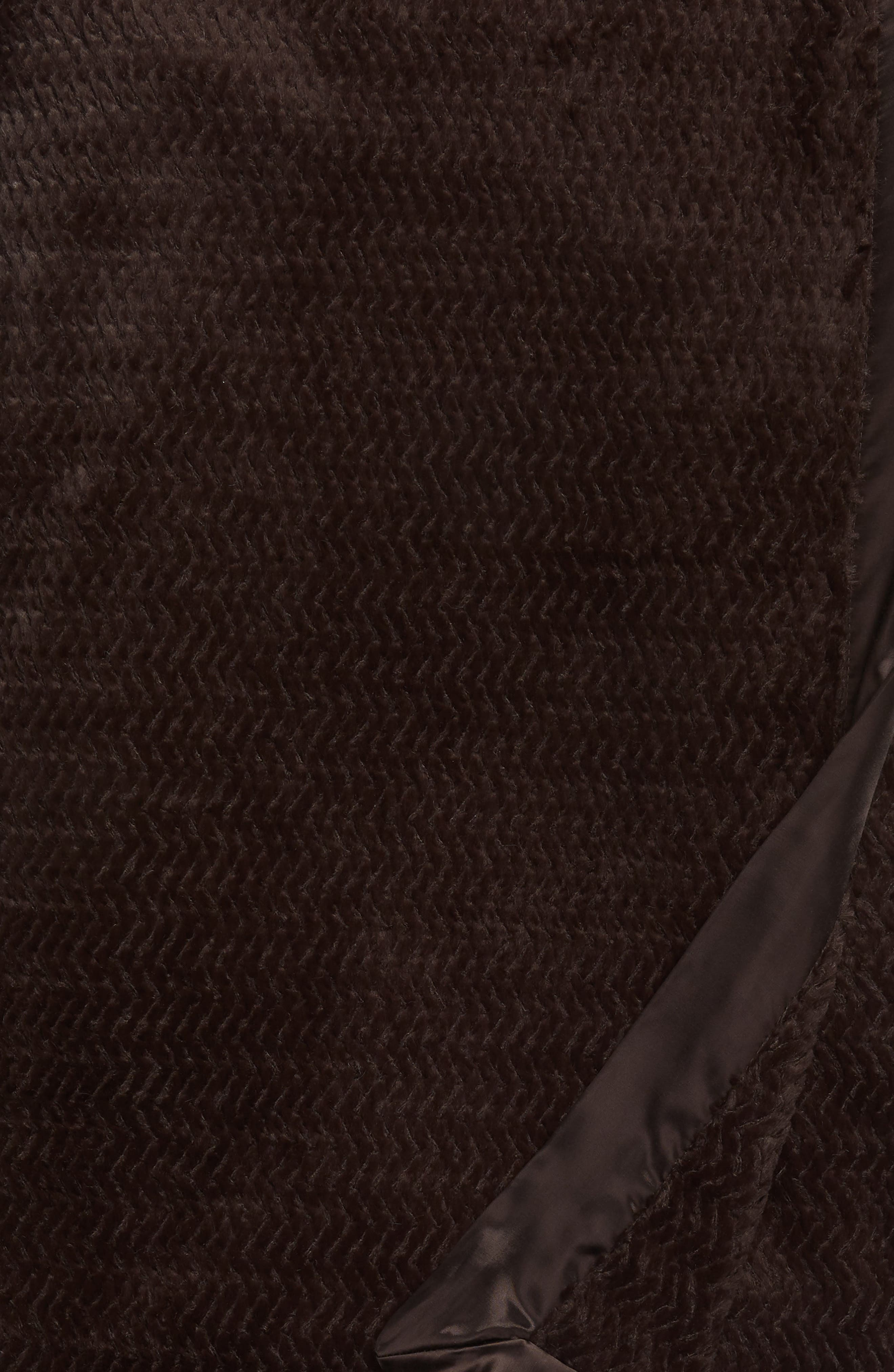 Luxe Twist Throw,                             Alternate thumbnail 2, color,                             Chocolate