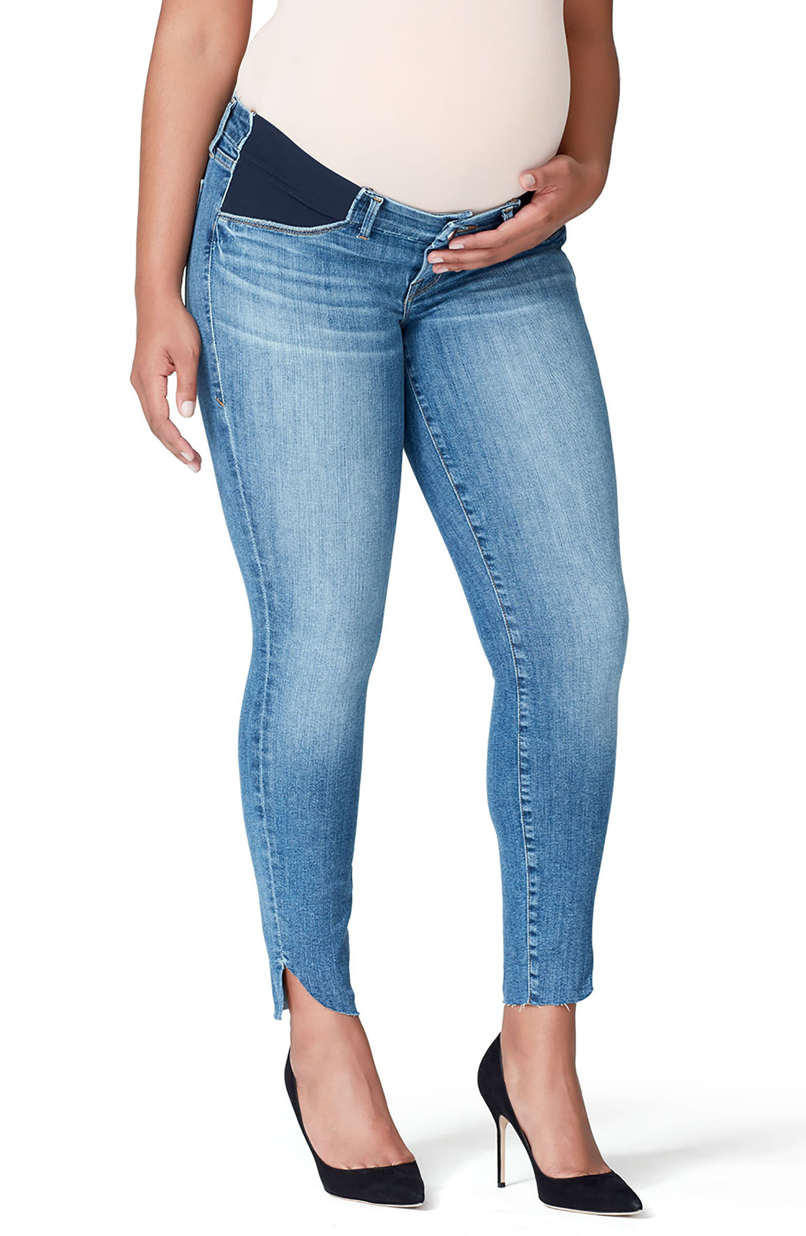Alternate Image 3  - Good American Good Mama The Honeymoon Low Rise Cascade Hem Maternity Skinny Jeans