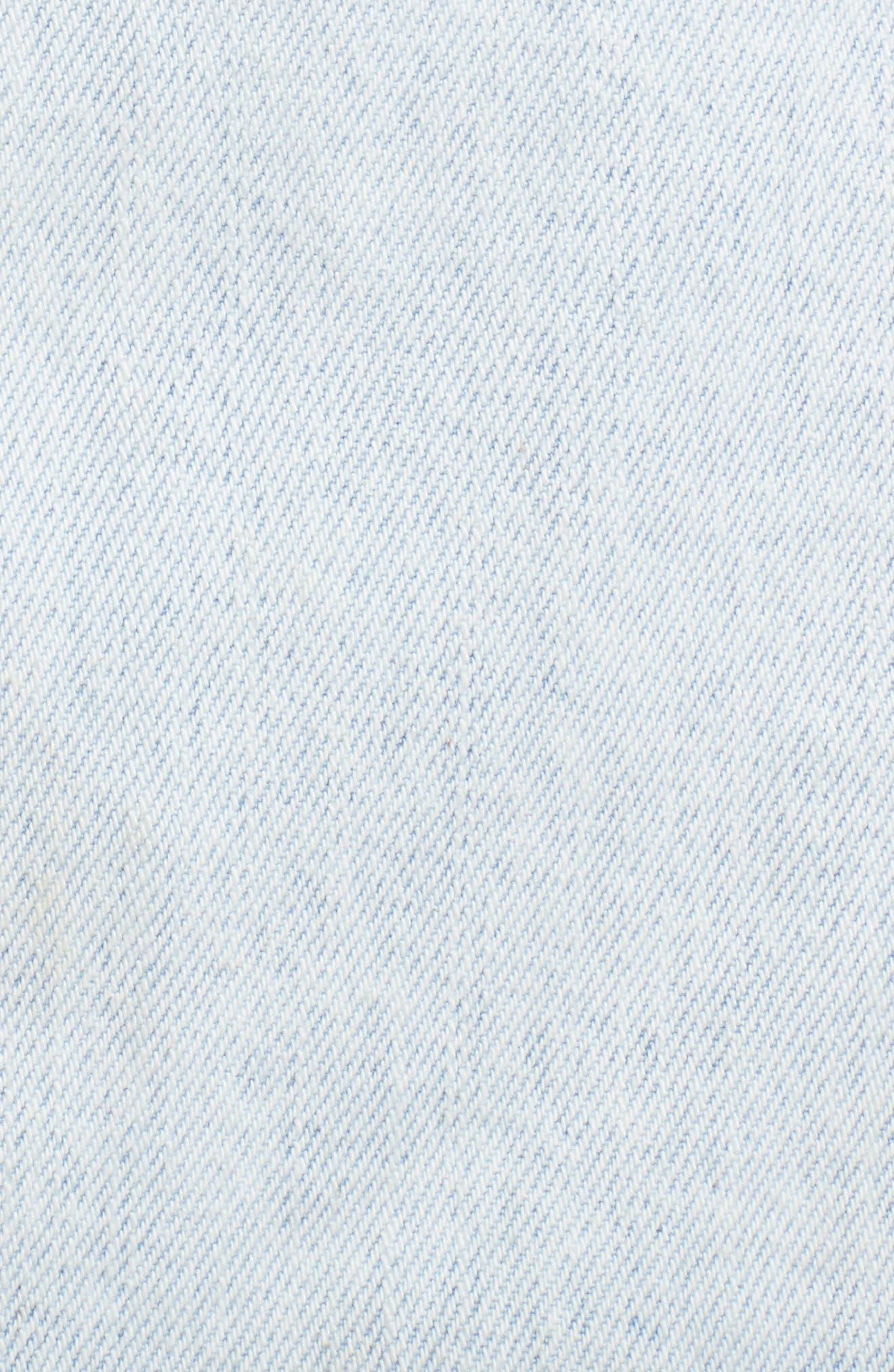Dillon Denim Skirt,                             Alternate thumbnail 7, color,                             Worn Superlight Blue