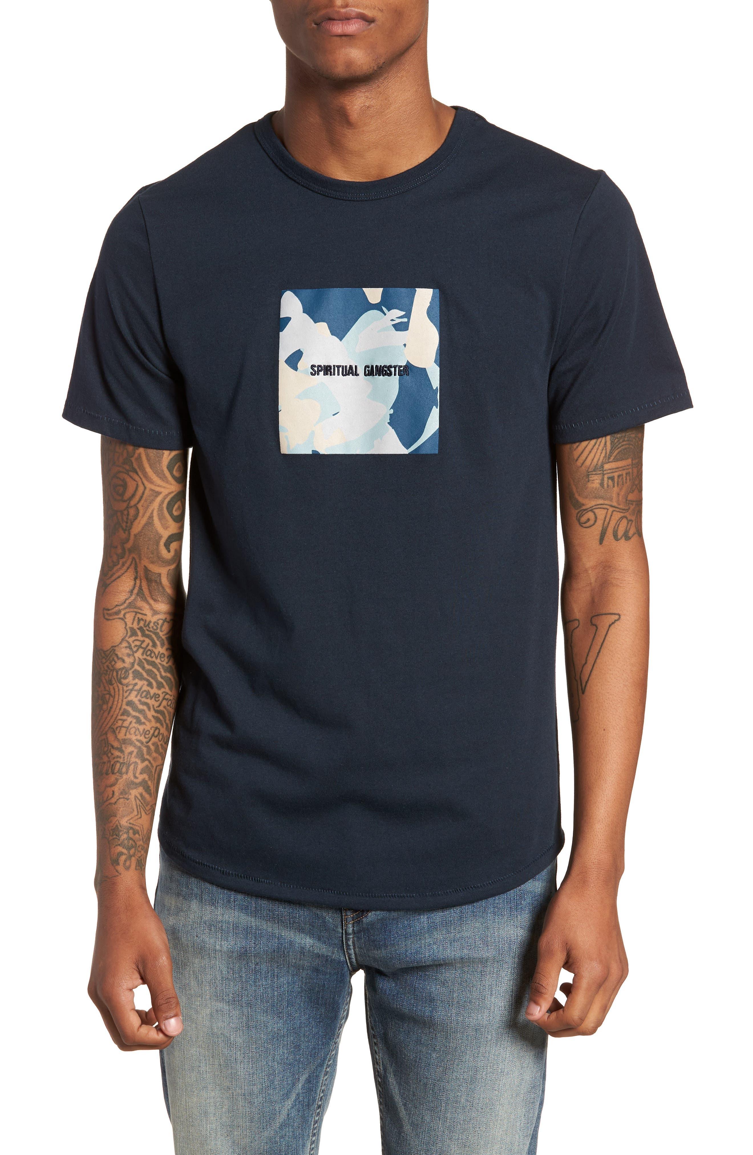 Nirvana Camo T-Shirt,                         Main,                         color, Salute/ Navy