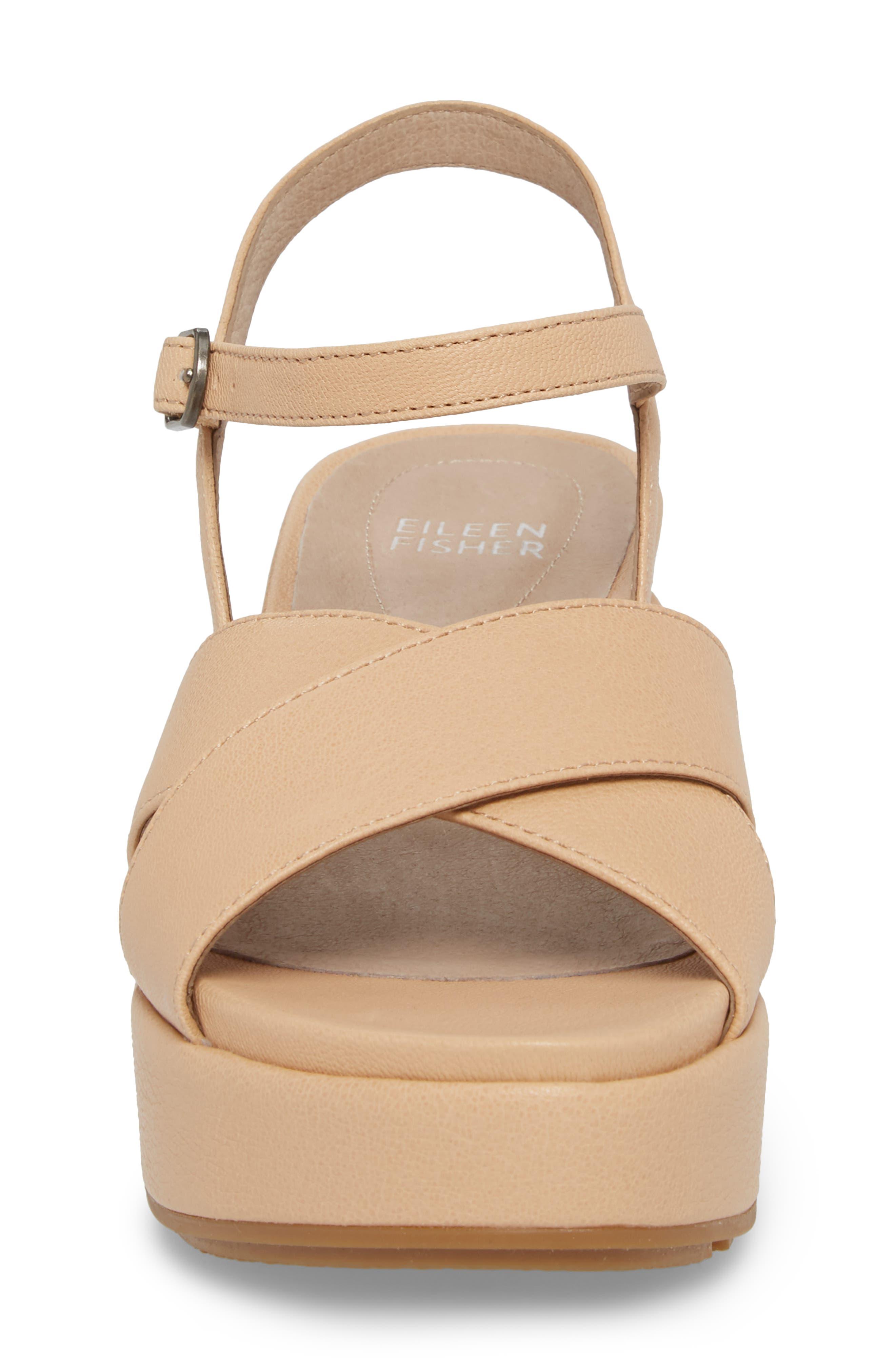 Juno Platform Sandal,                             Alternate thumbnail 4, color,                             Desert Leather