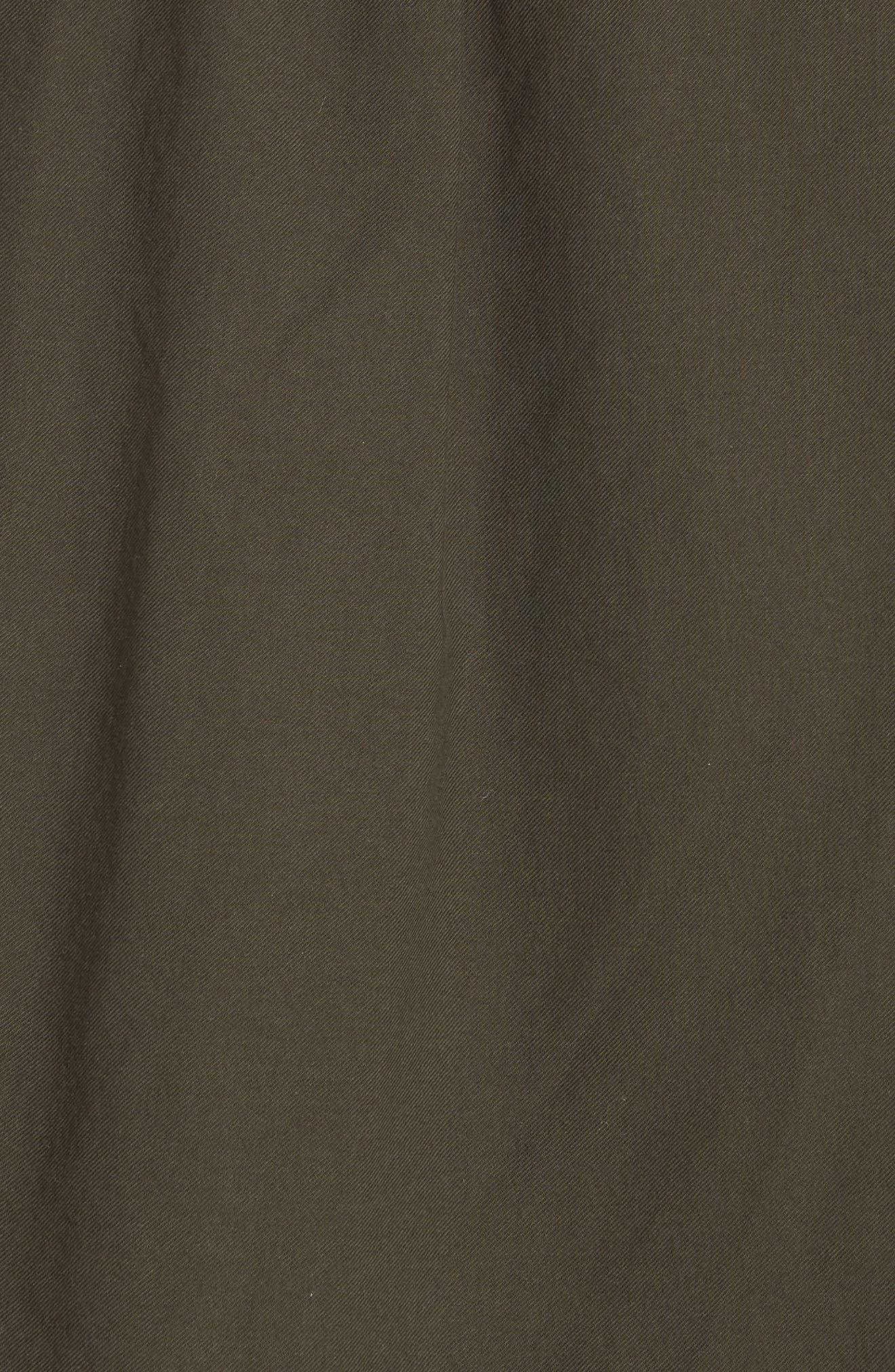 Shirred Cotton Blouse,                             Alternate thumbnail 5, color,                             Pinon Green