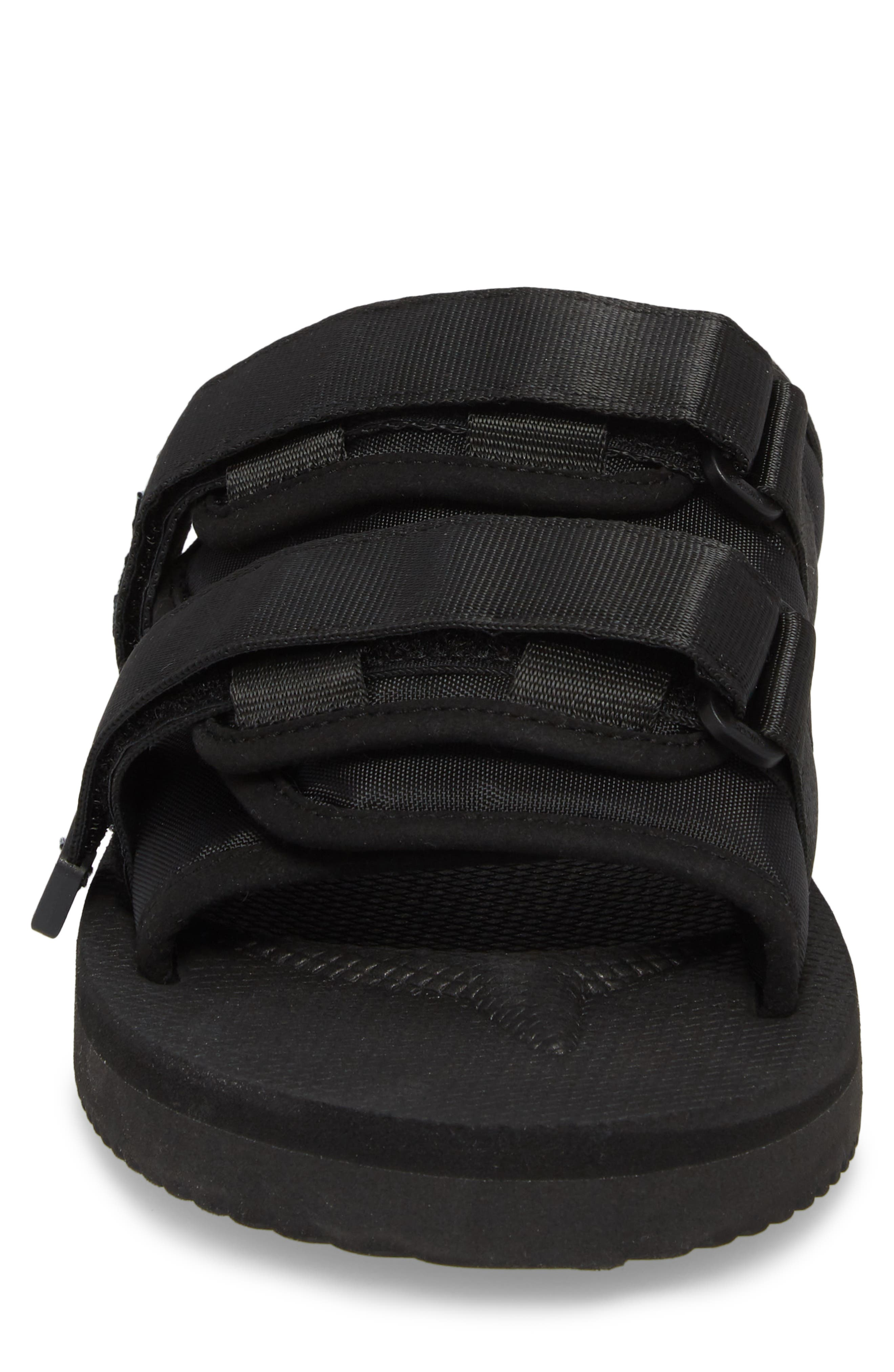 Moto Cab Slide Sandal,                             Alternate thumbnail 4, color,                             Black